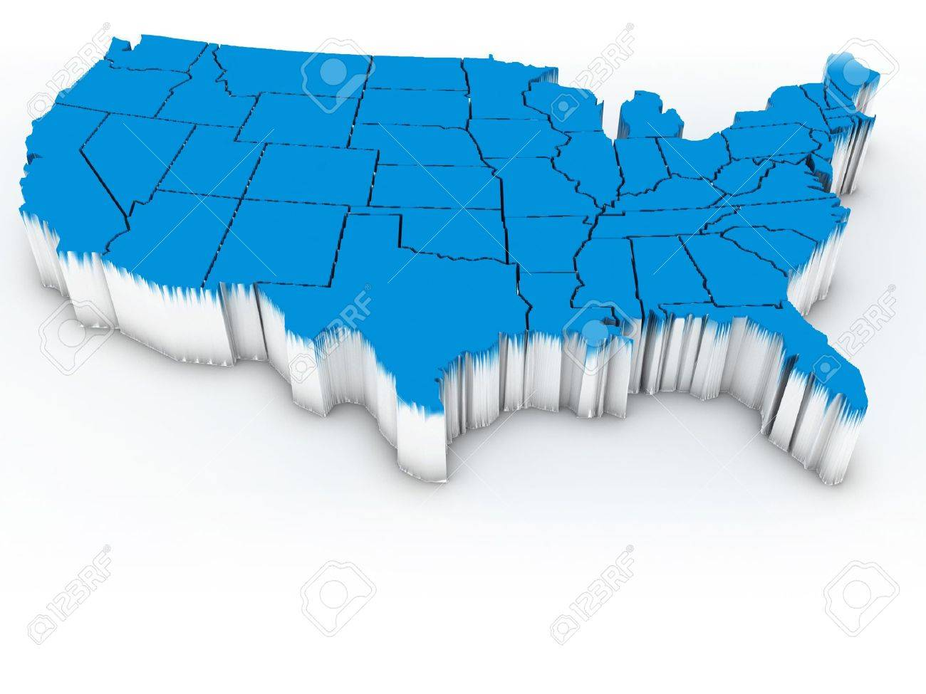 Map Of USA D Stock Photo Picture And Royalty Free Image Image - 3d map usa states