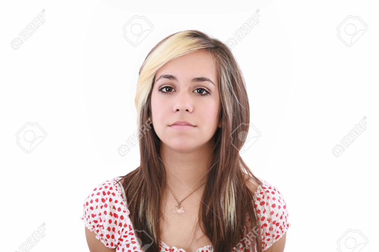 Young serious attractive woman looking into the camera Stock Photo - 12222218