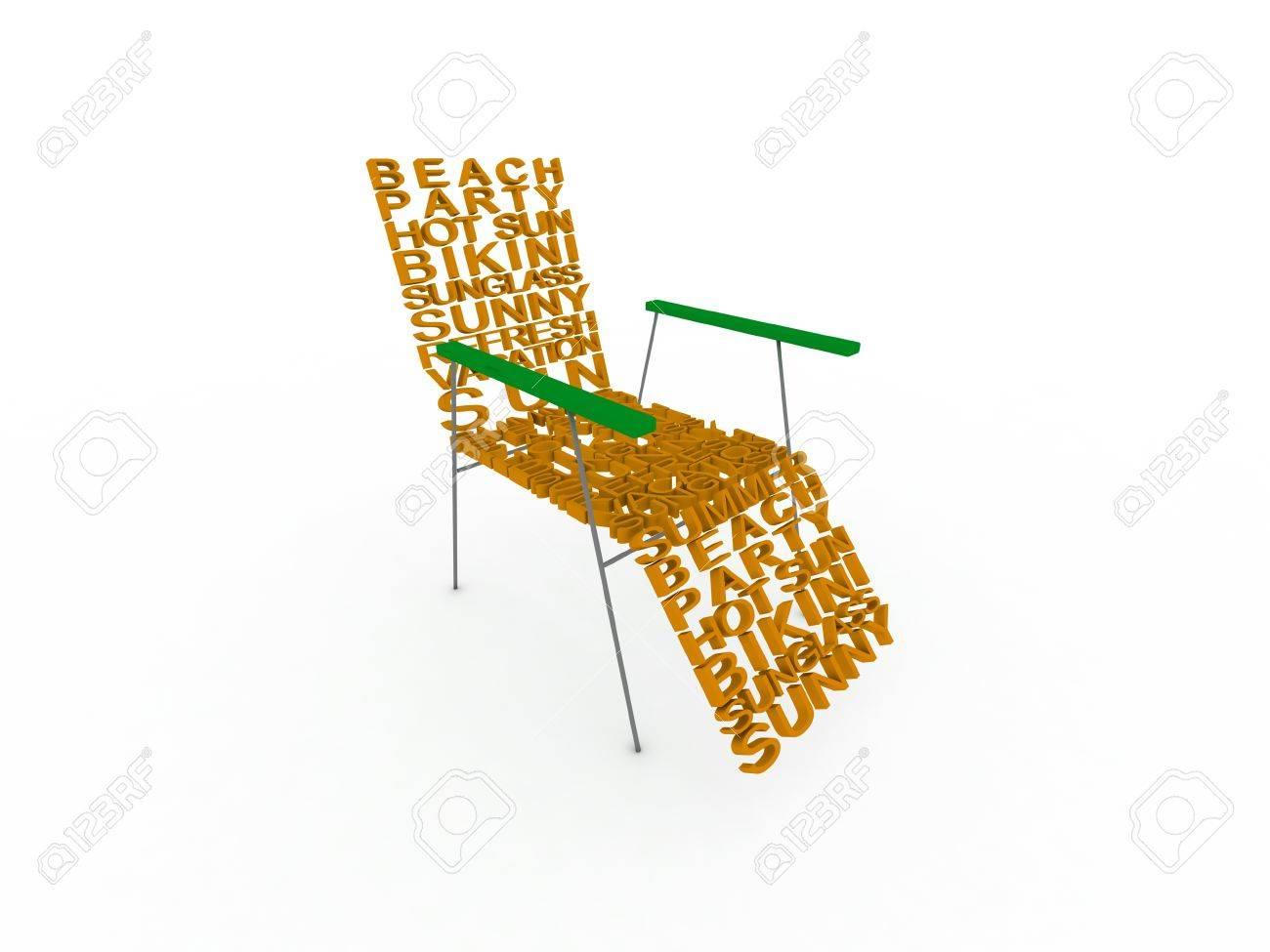 Sommer Wörter Stuhl Lizenzfreie Fotos Bilder Und Stock Fotografie