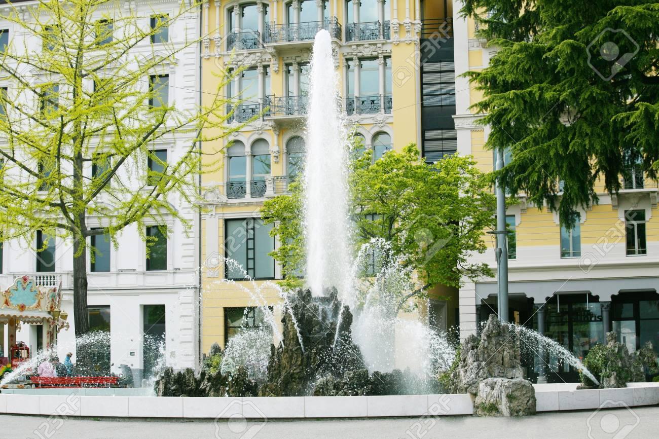 Fountain, Lugano , Switzerland Stock Photo - 16712626
