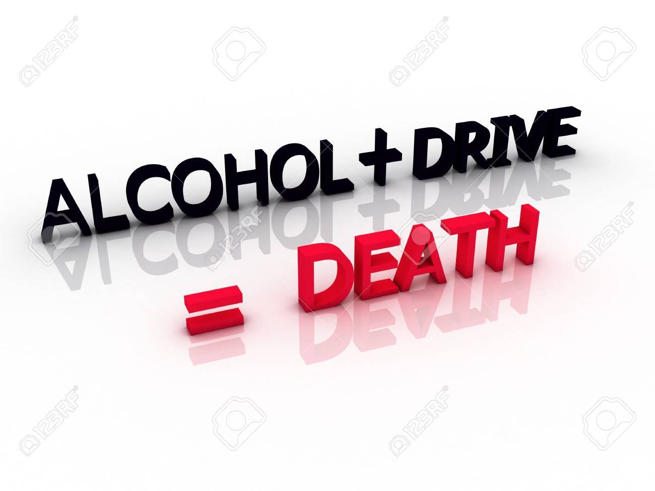 words meaning death when you drive and drink alcohol Stock Photo - 19242682