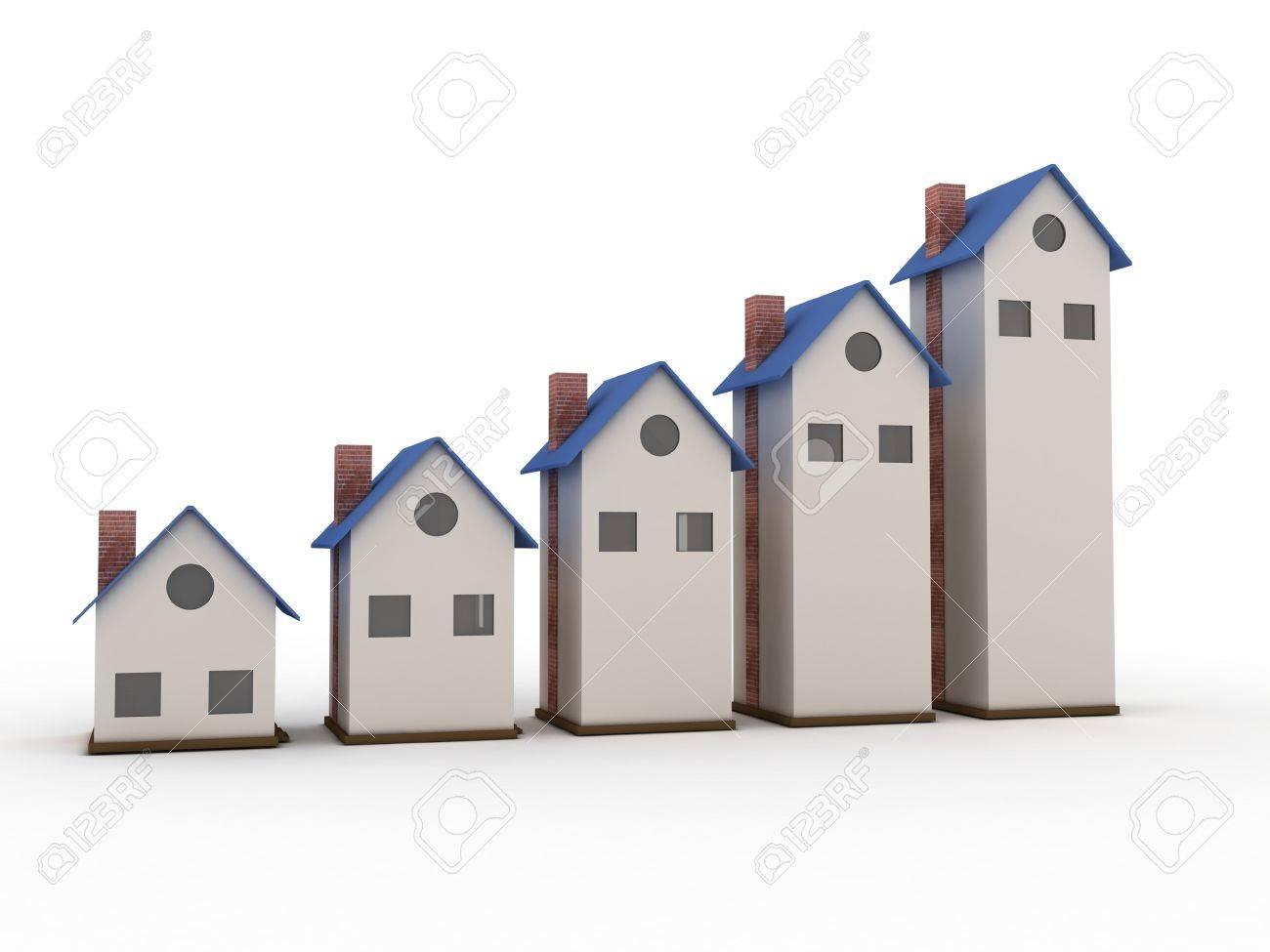 Increasing home sale Stock Photo - 19242669