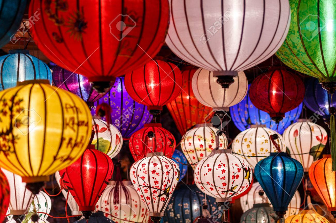 colorful paper lanterns in hoi an vietnam stock photo picture and