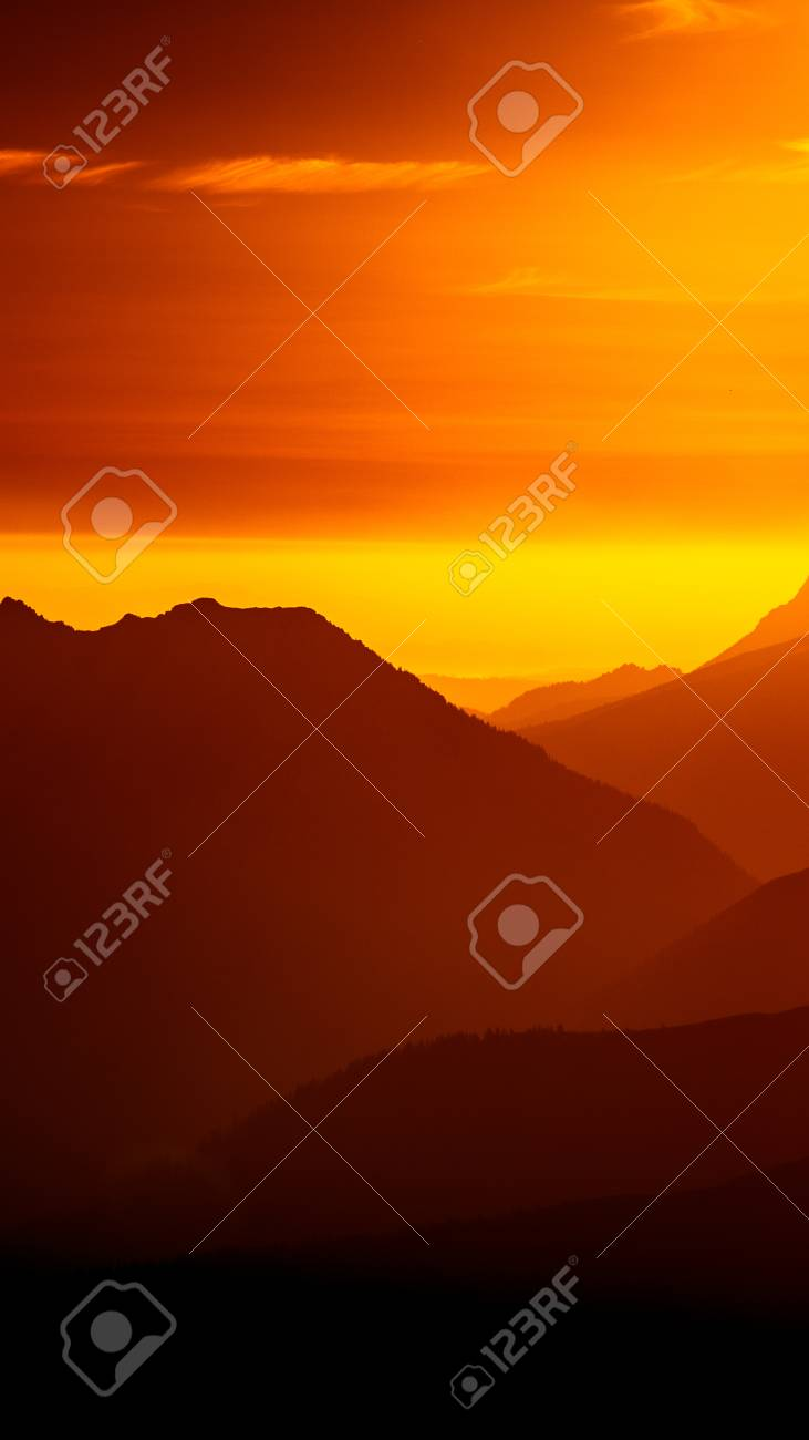 Wonderful Wallpaper Mountain Smartphone - 86254596-an-inspiring-mountain-landscape-in-tatry-slovakia-vivid-gradient-scenery-with-perspective-in-red-ton  Pic_452690.jpg