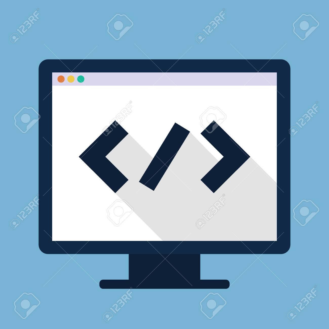 Code Flat Icon Developer