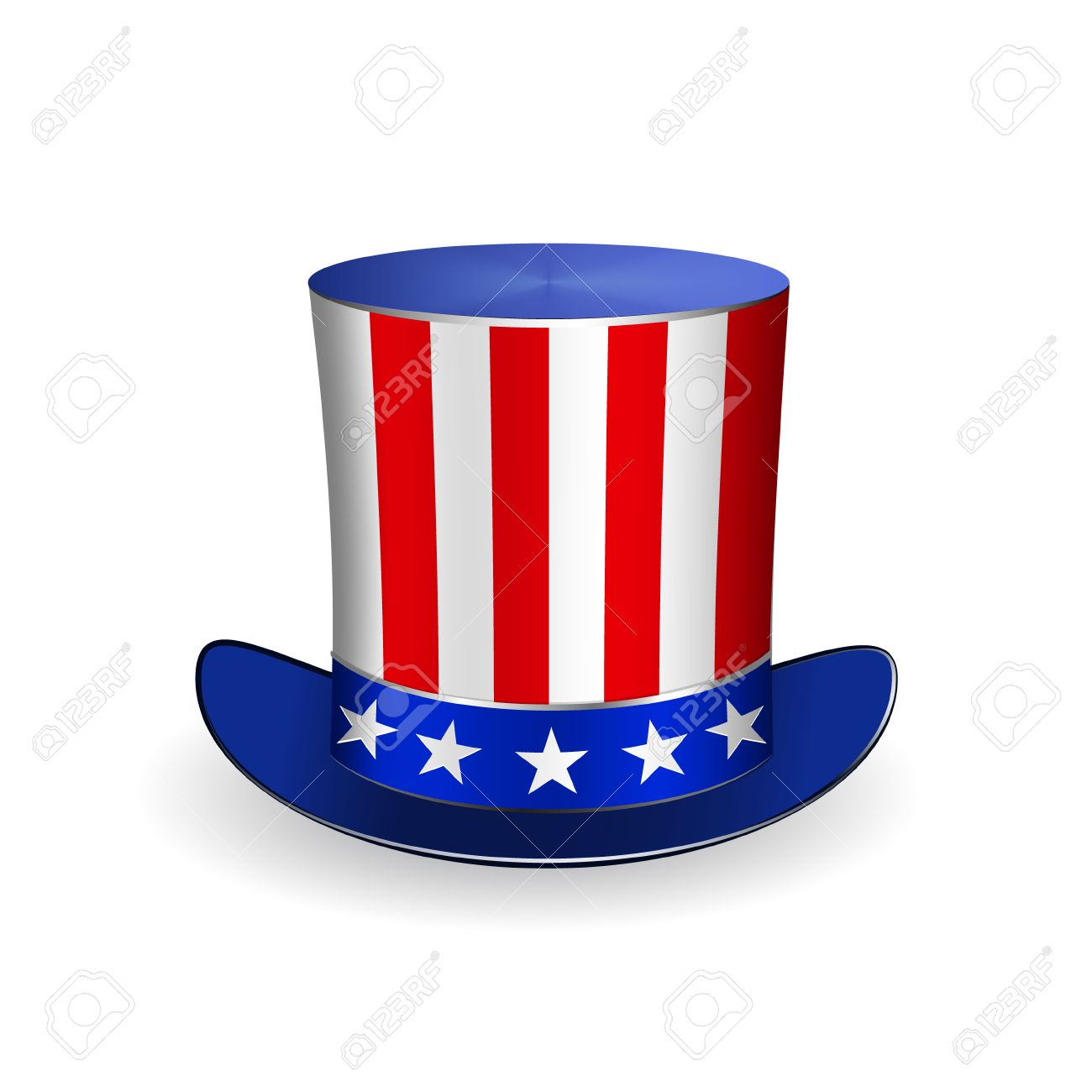 3ec4f36f83b0b Top Hat for Fourth of July Stock Vector - 27675517