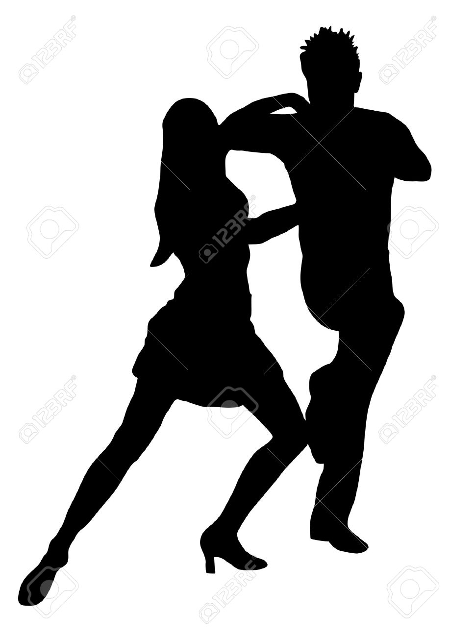 couple dancers silhouette vector illustration royalty free cliparts rh 123rf com dancing crowd silhouette vector dancing silhouette vector