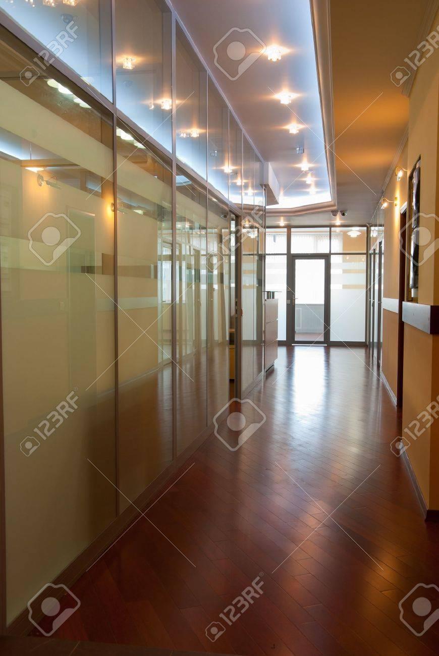 Modern office interior - perspective of a  corridor Stock Photo - 7084071