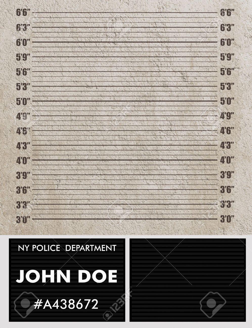 Police mugshot background - 22035982