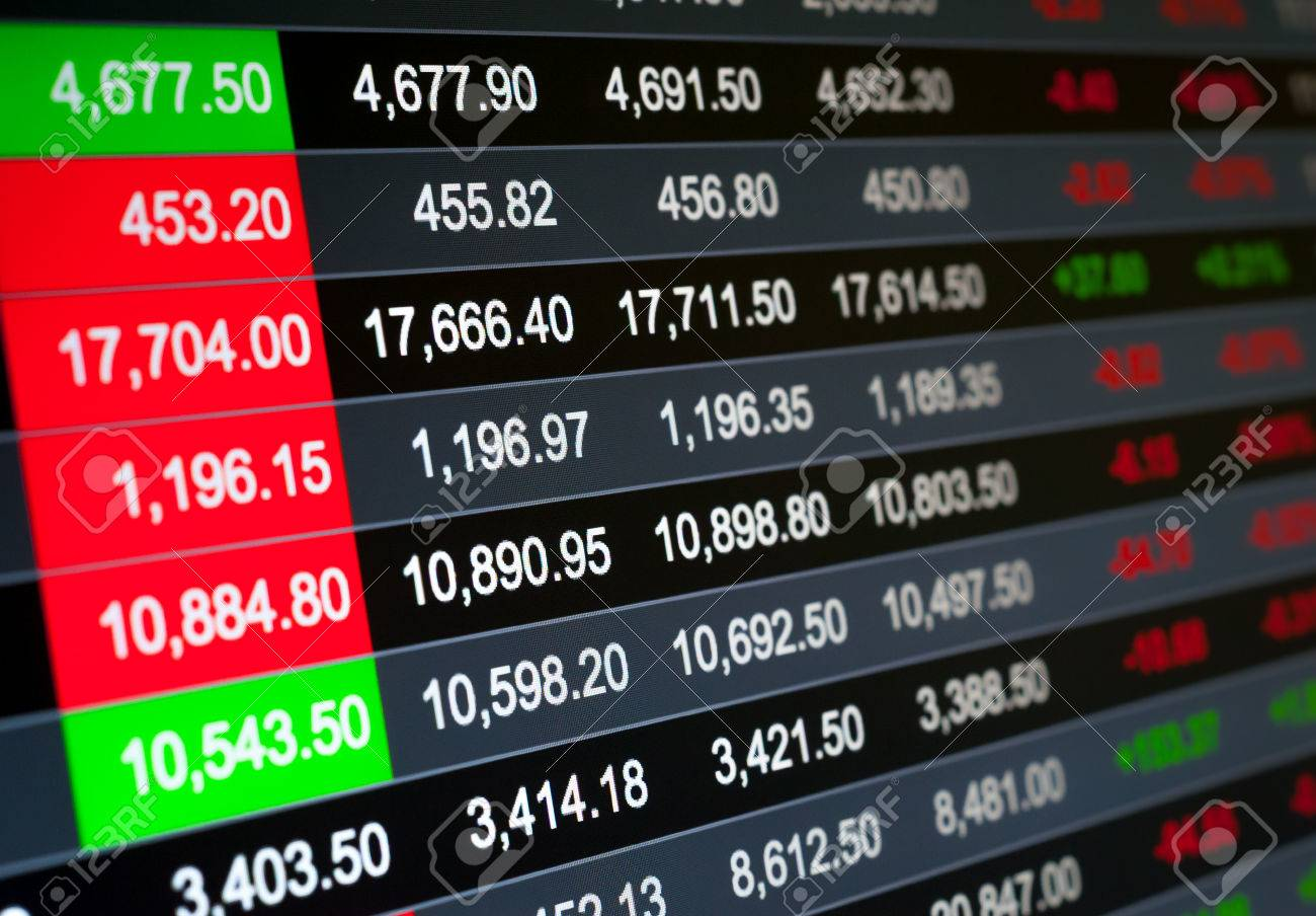 Abstract background stock market indices - 36301745