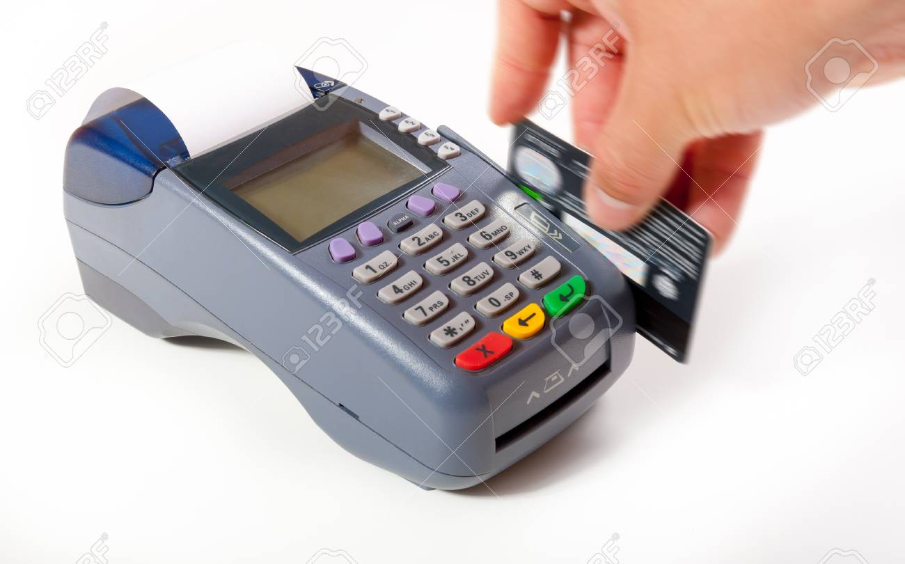 Payment using plastic card in POS terminal - 42690050