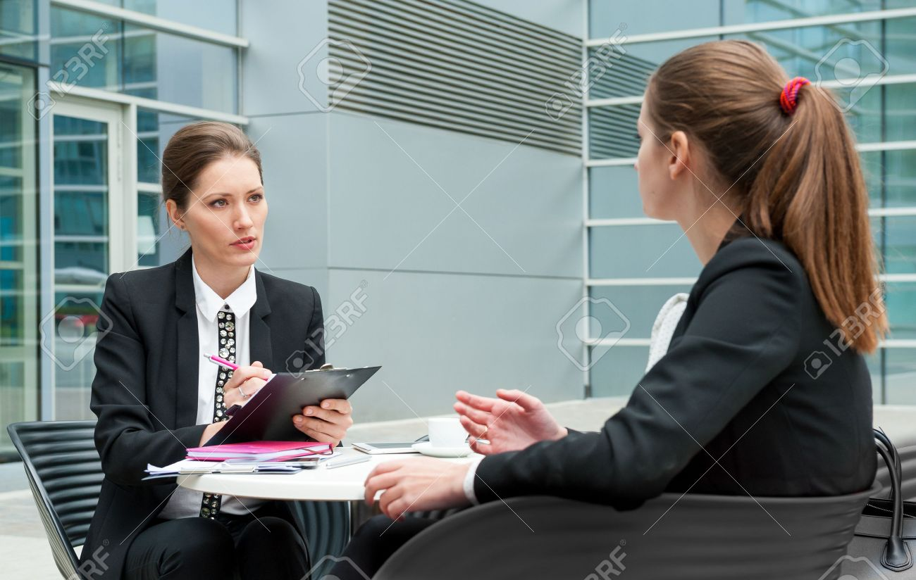Young business woman job interview - 46498171