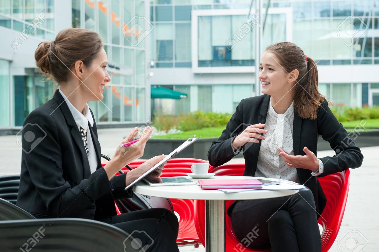 Young business woman job interview - 47345923