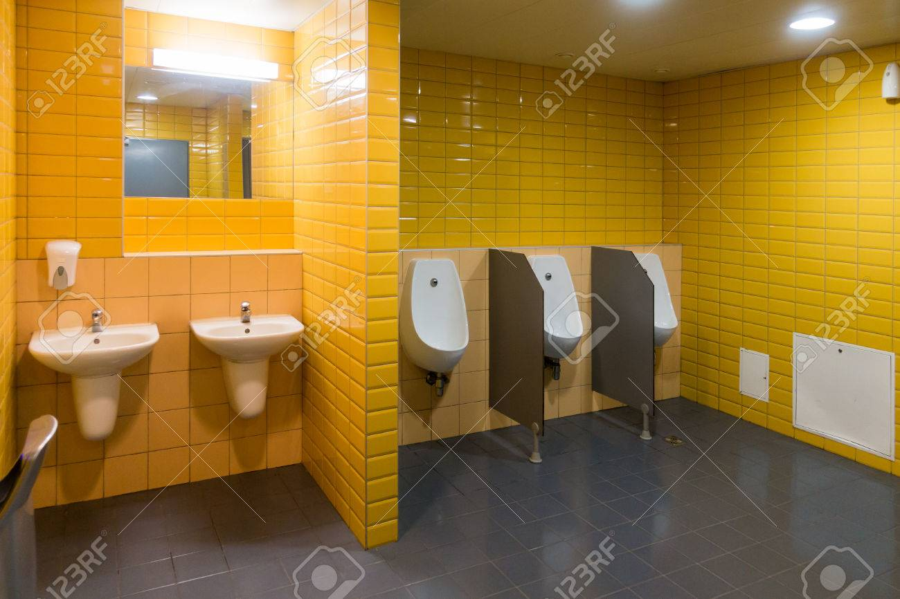 Public Modern Wc Mens Room Interior Stock Photo, Picture And Royalty ...