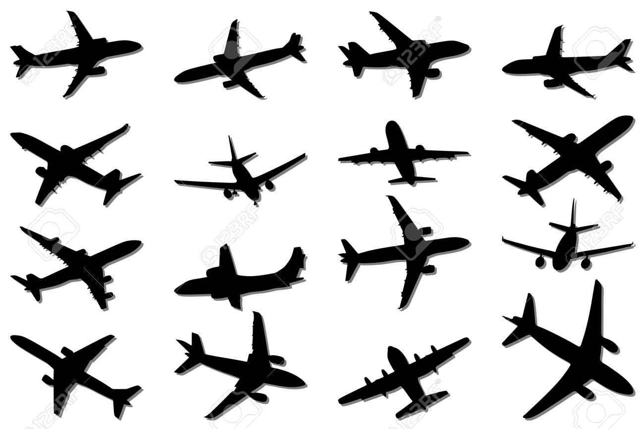 Plane Silhouettes Stock Vector - 7793691