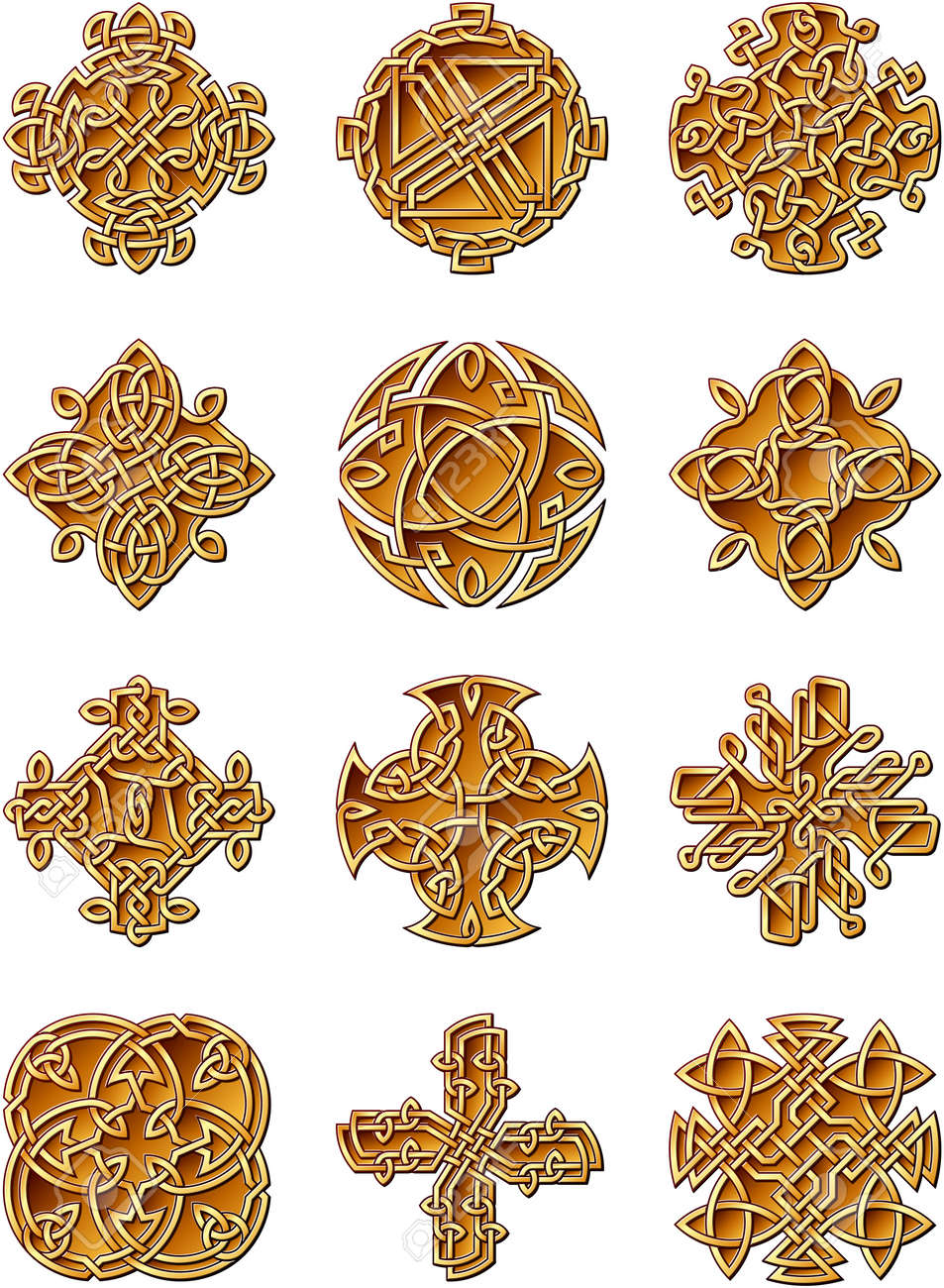 Celtic Style Ornaments Stock Vector - 17081308