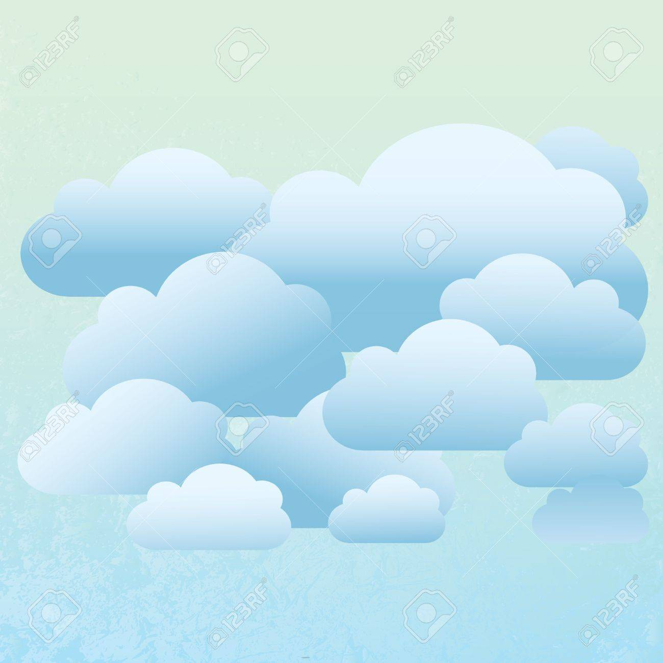 Abstract Cloud Background Stock Vector - 15375198