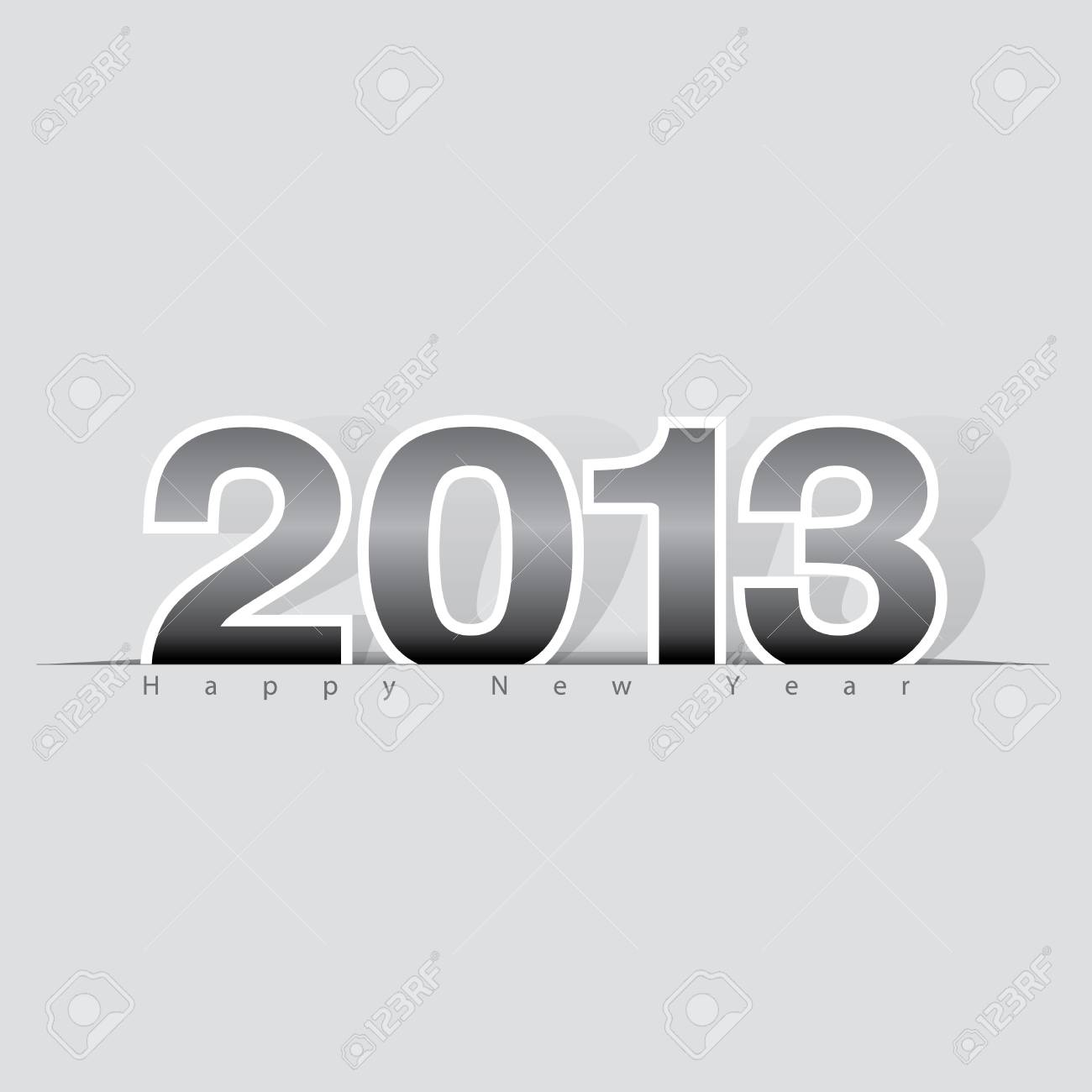 2013 Happy New Year design, background   illustration Stock Vector - 16753235