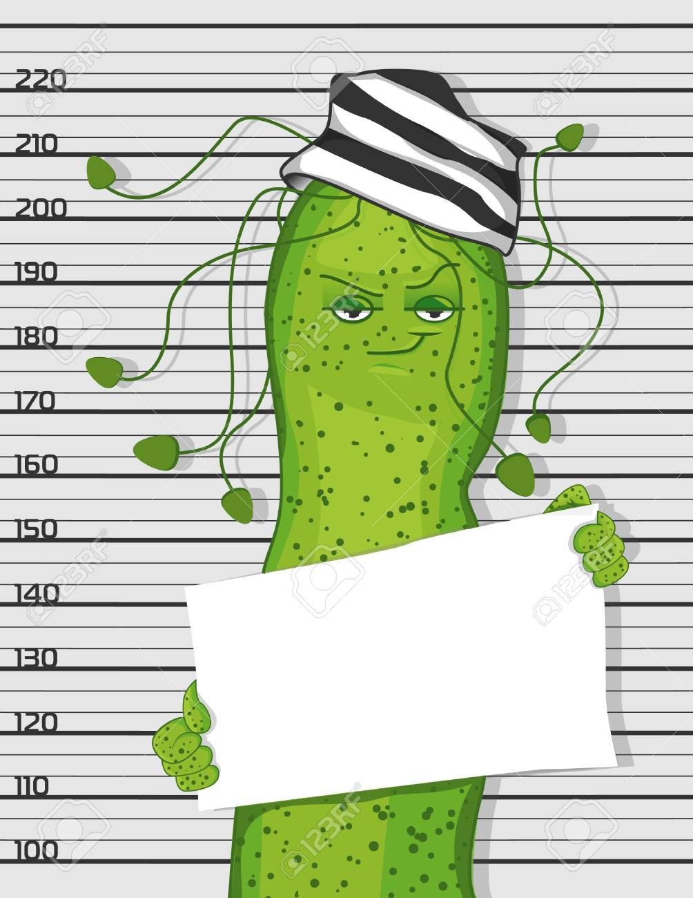 Bacterium Helicobacter pylori in the image of a criminal. Cartoon bacterium. - 95519120