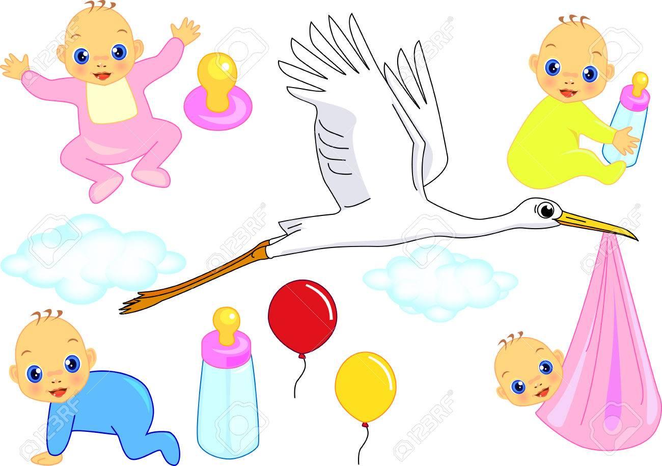 Baby born Stock Vector - 5845201