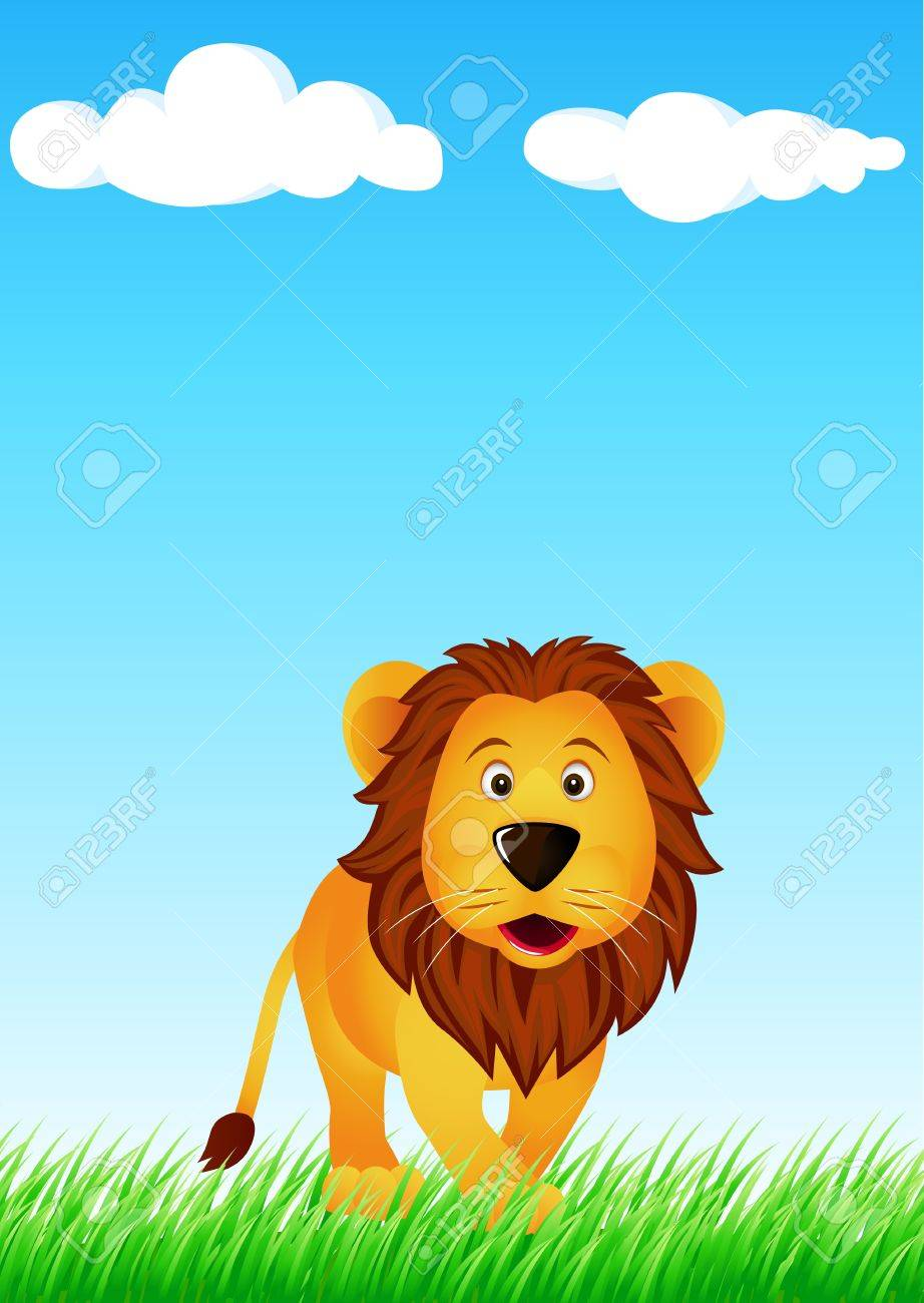 Lion in the wild Stock Vector - 6169827