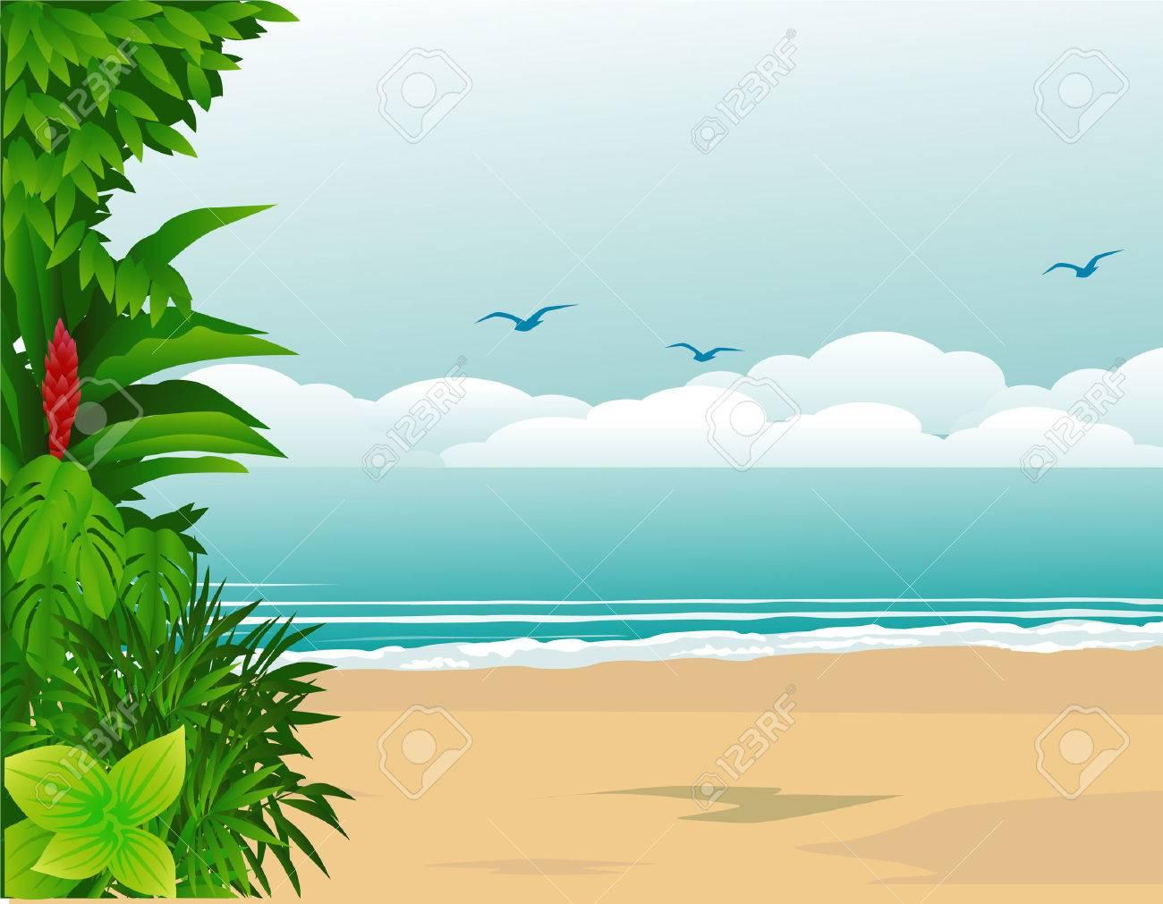 Tropical beach Stock Vector - 6619700