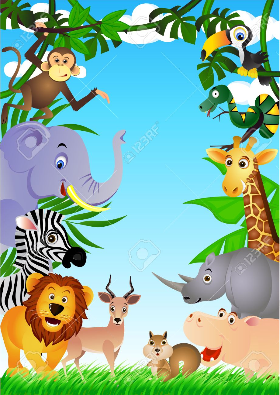 Funny safari animal cartoon Stock Vector - 6765961
