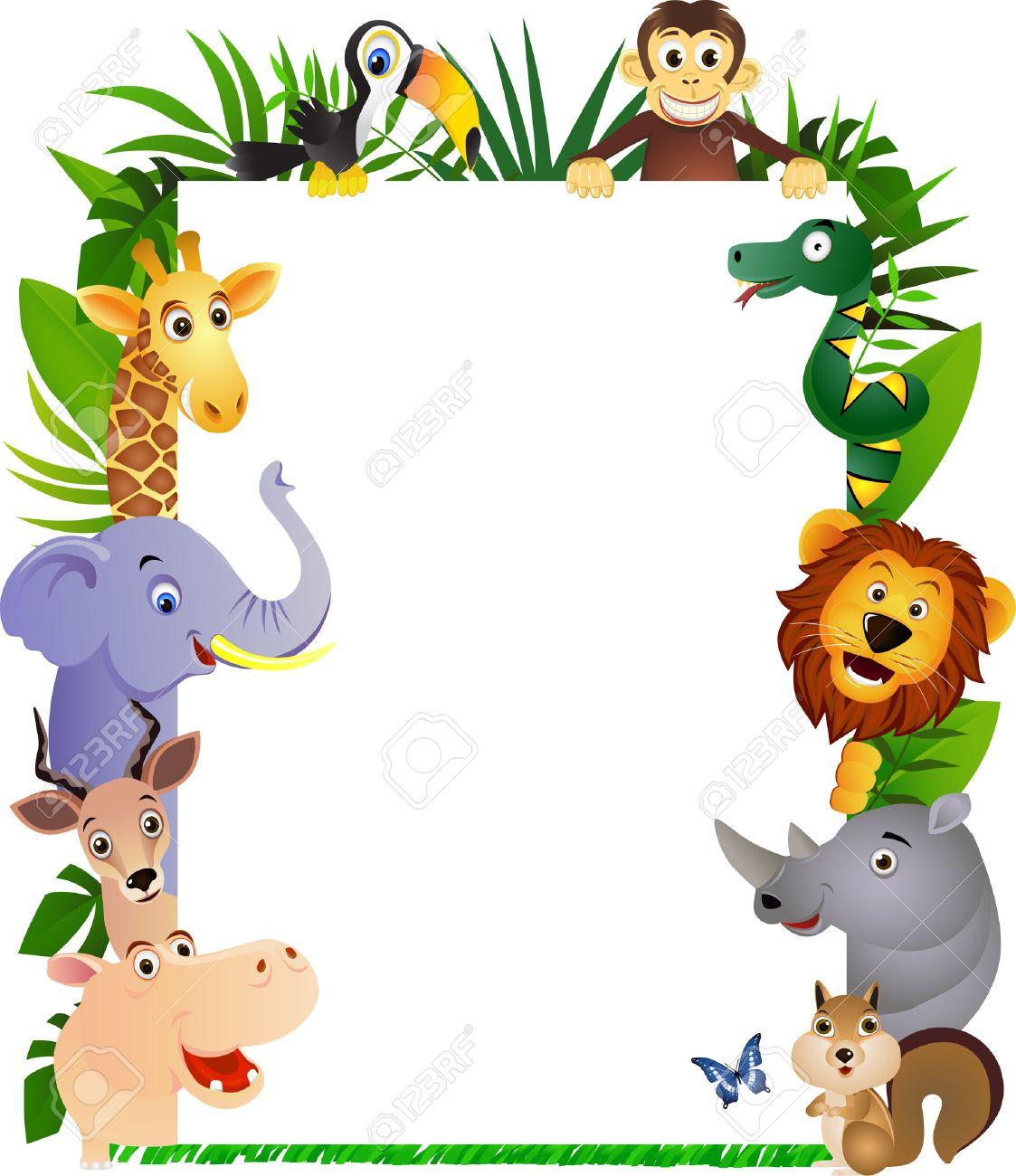 Funny Cartoon Animal Frame Royalty Free Cliparts, Vectors, And Stock ...