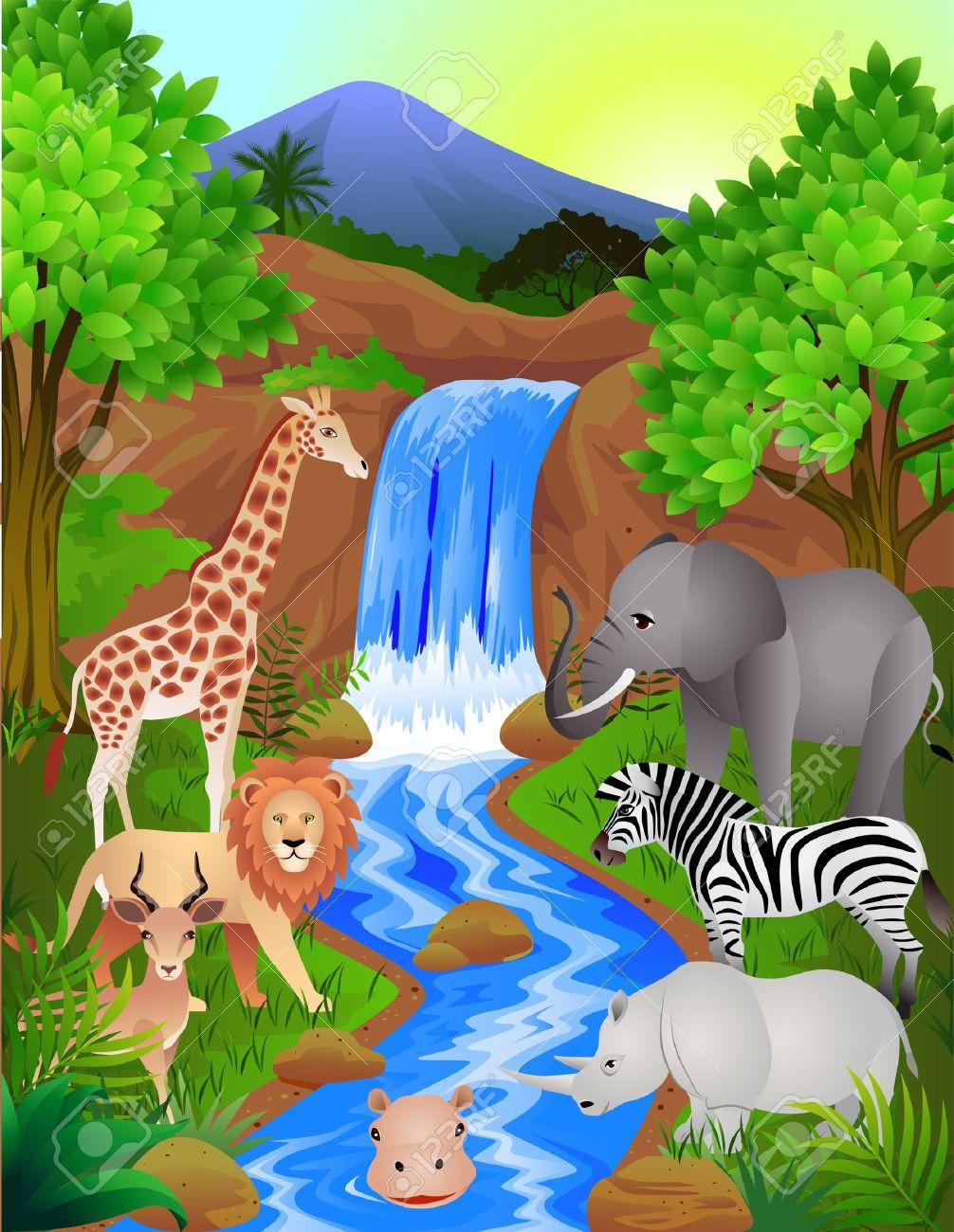 Beautiful jungle Stock Vector - 6766002