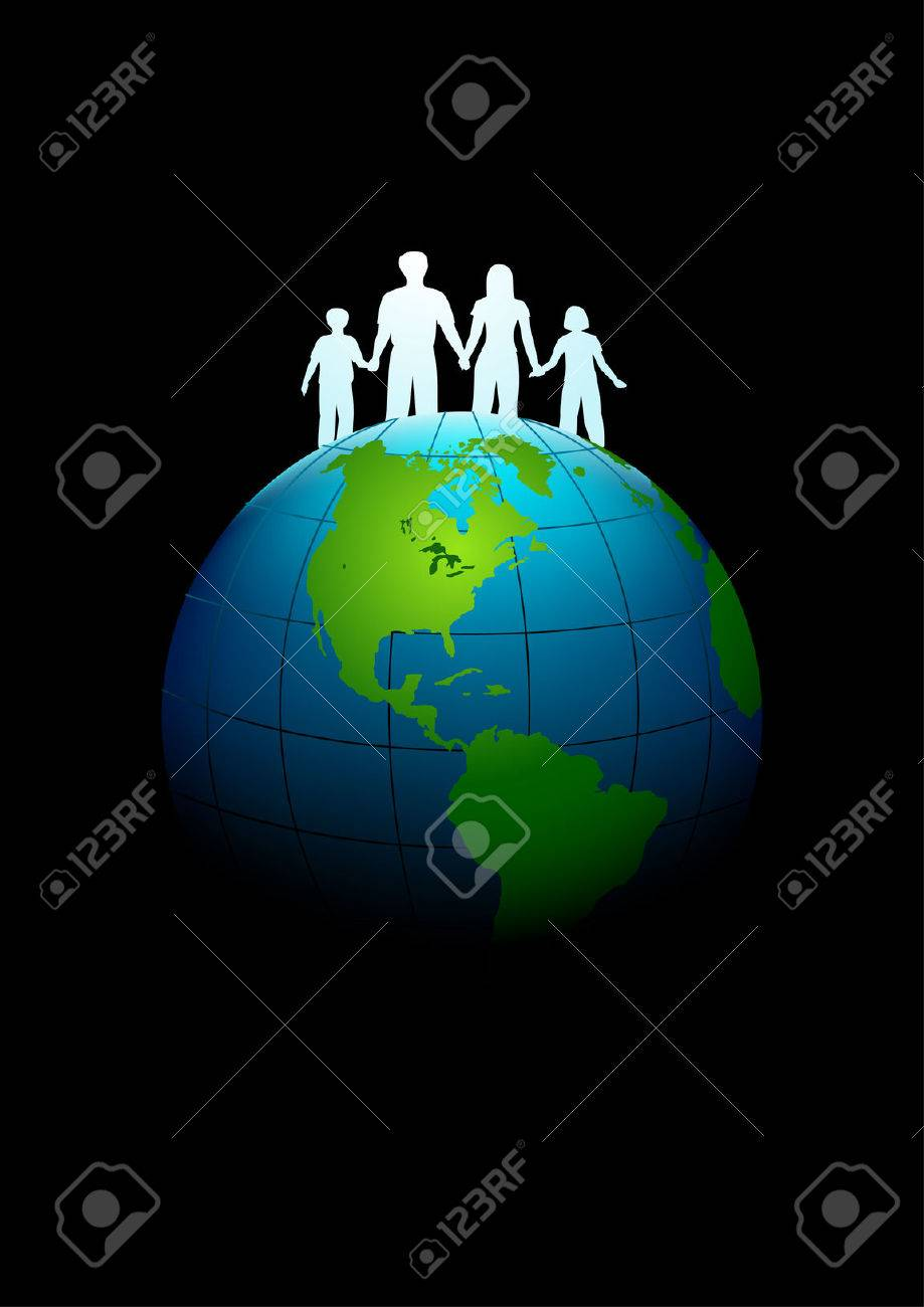 Family on earth Stock Vector - 7679149