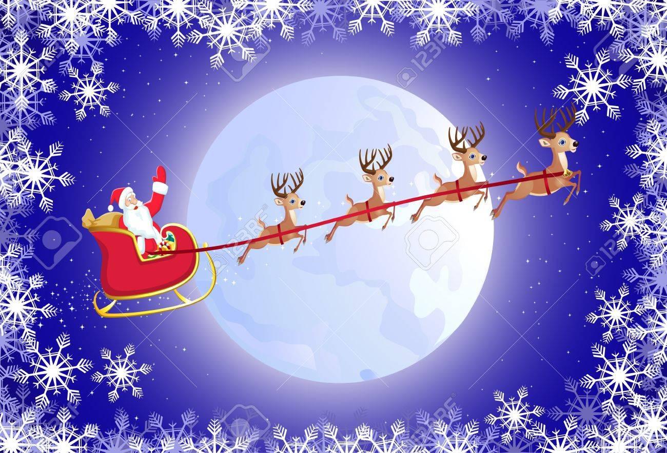 Foto Slitta Di Babbo Natale.Slitta Di Babbo Natale
