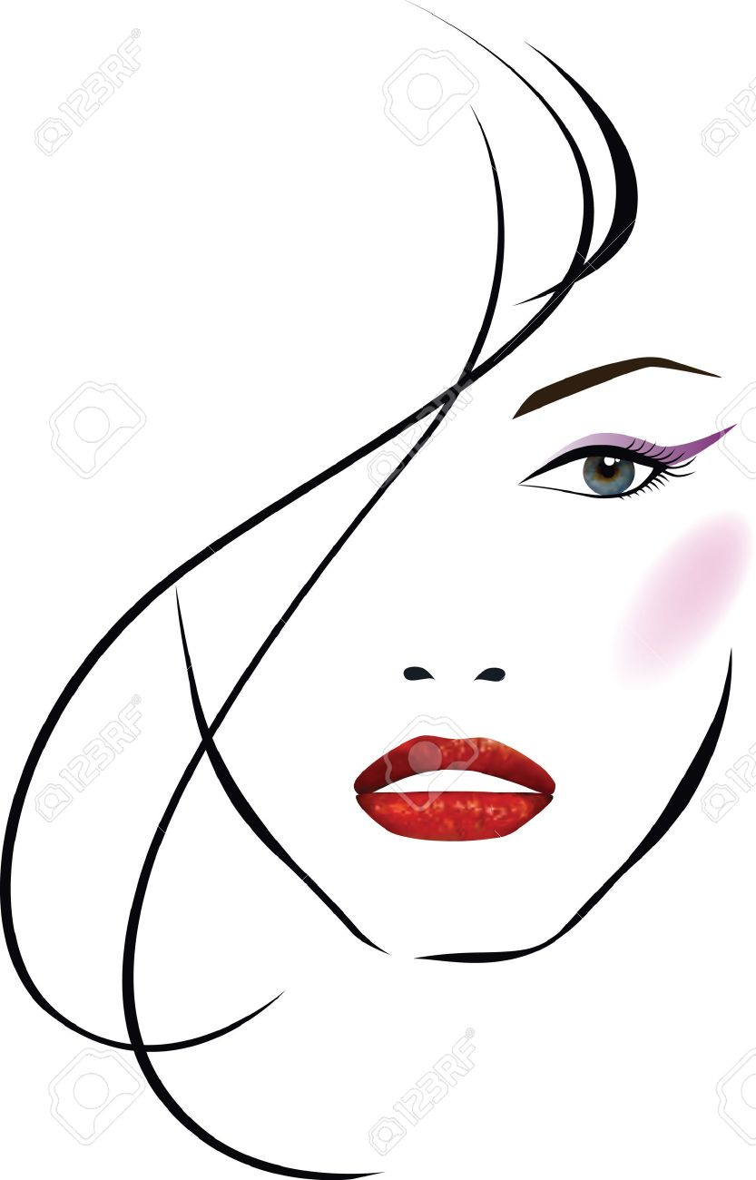 Beautiful girl face Stock Vector - 8592384