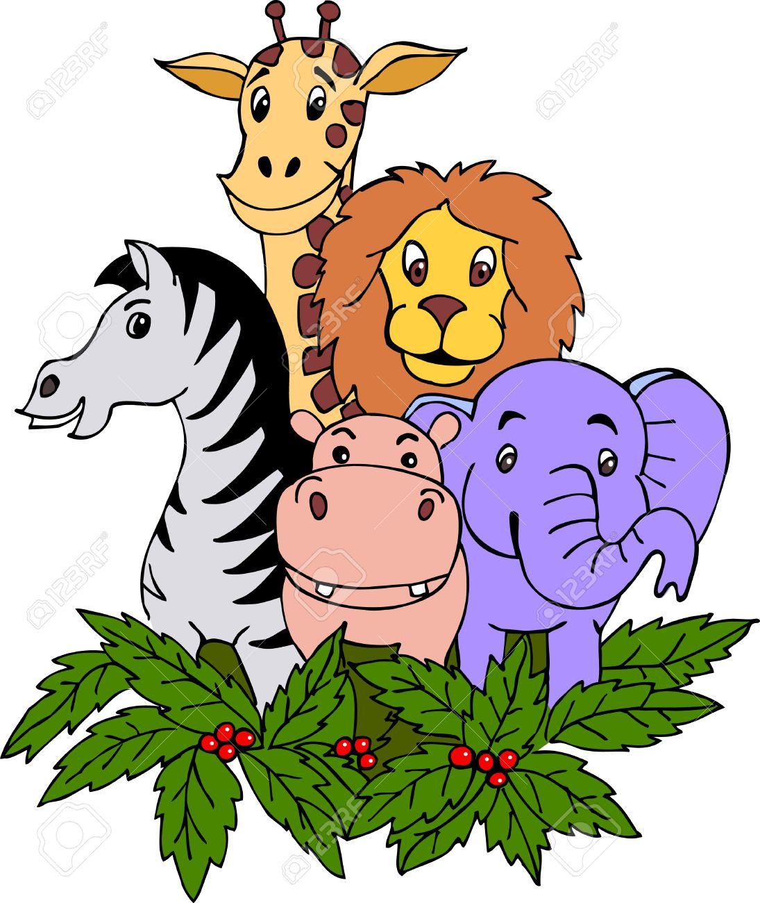 wild animal cartoon Stock Vector - 8598918