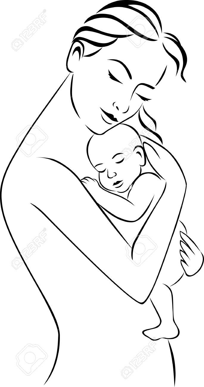 Mother and baby Stock Vector - 8801191