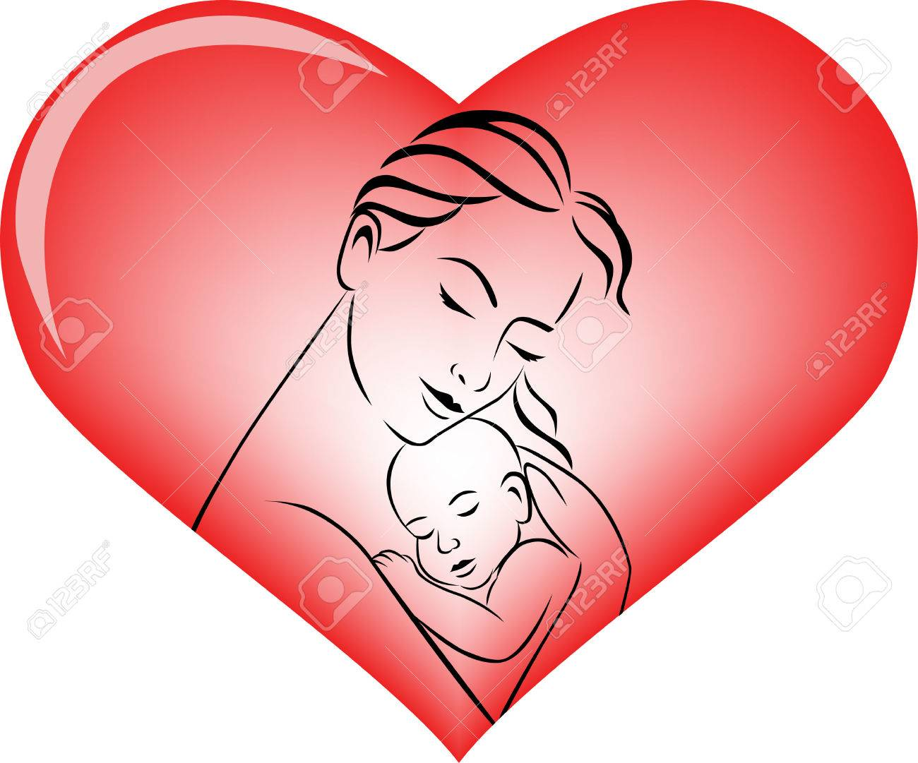 mother and baby Stock Vector - 8801194