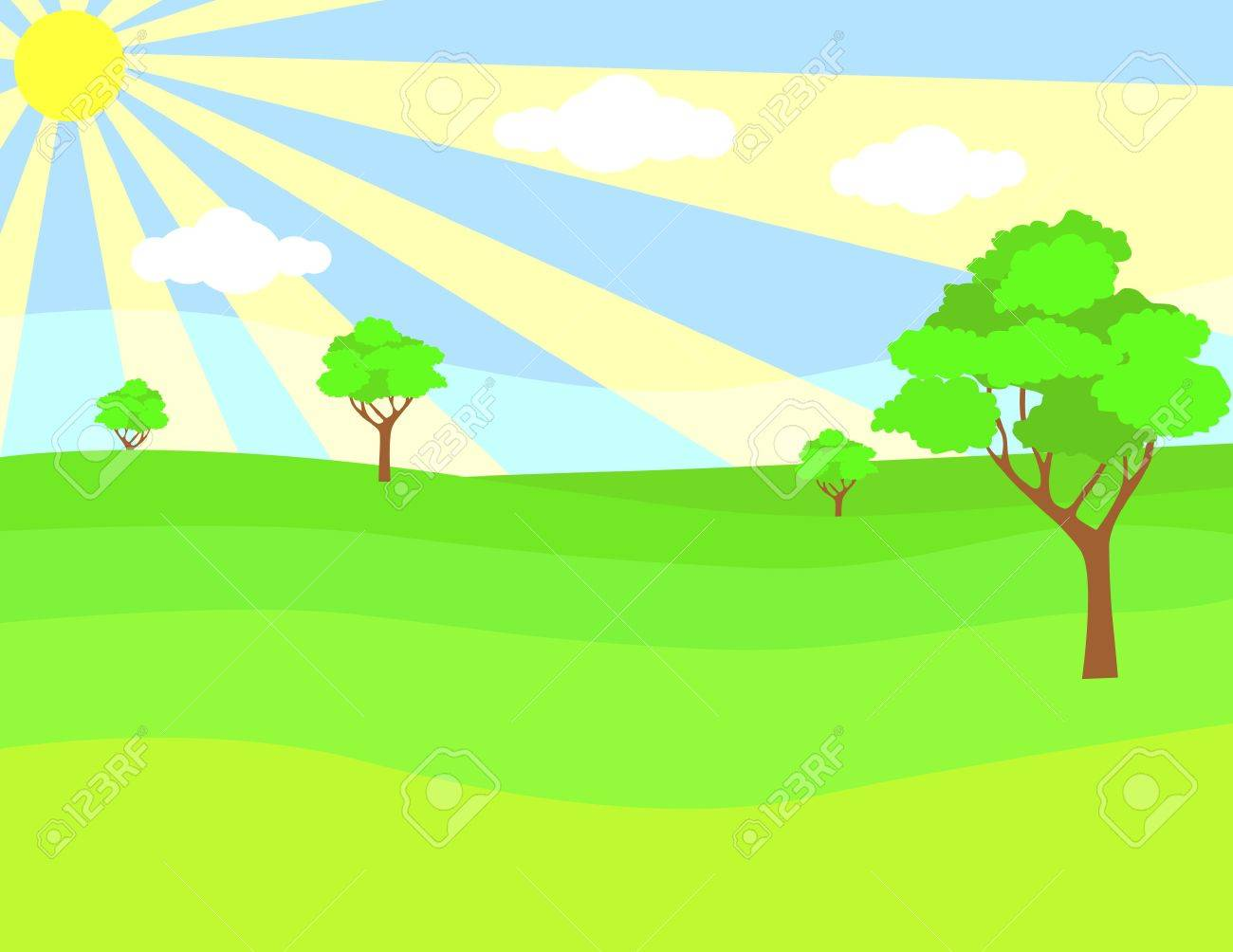 Landscape background Stock Vector - 9145767