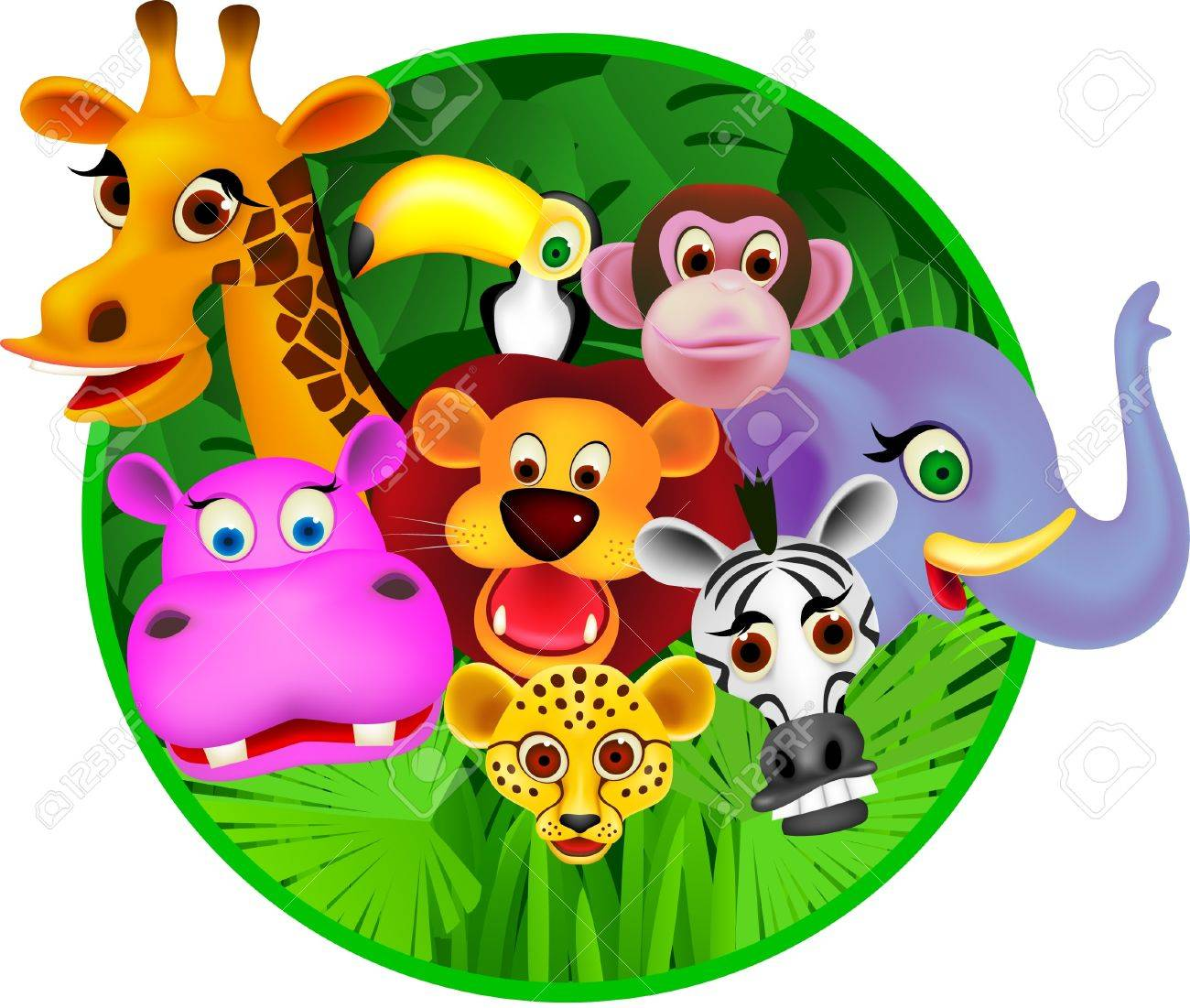 http://previews.123rf.com/images/dagadu/dagadu1105/dagadu110500001/9508687-Animal-carton-Stock-Vector-animals-jungle-cartoon.jpg