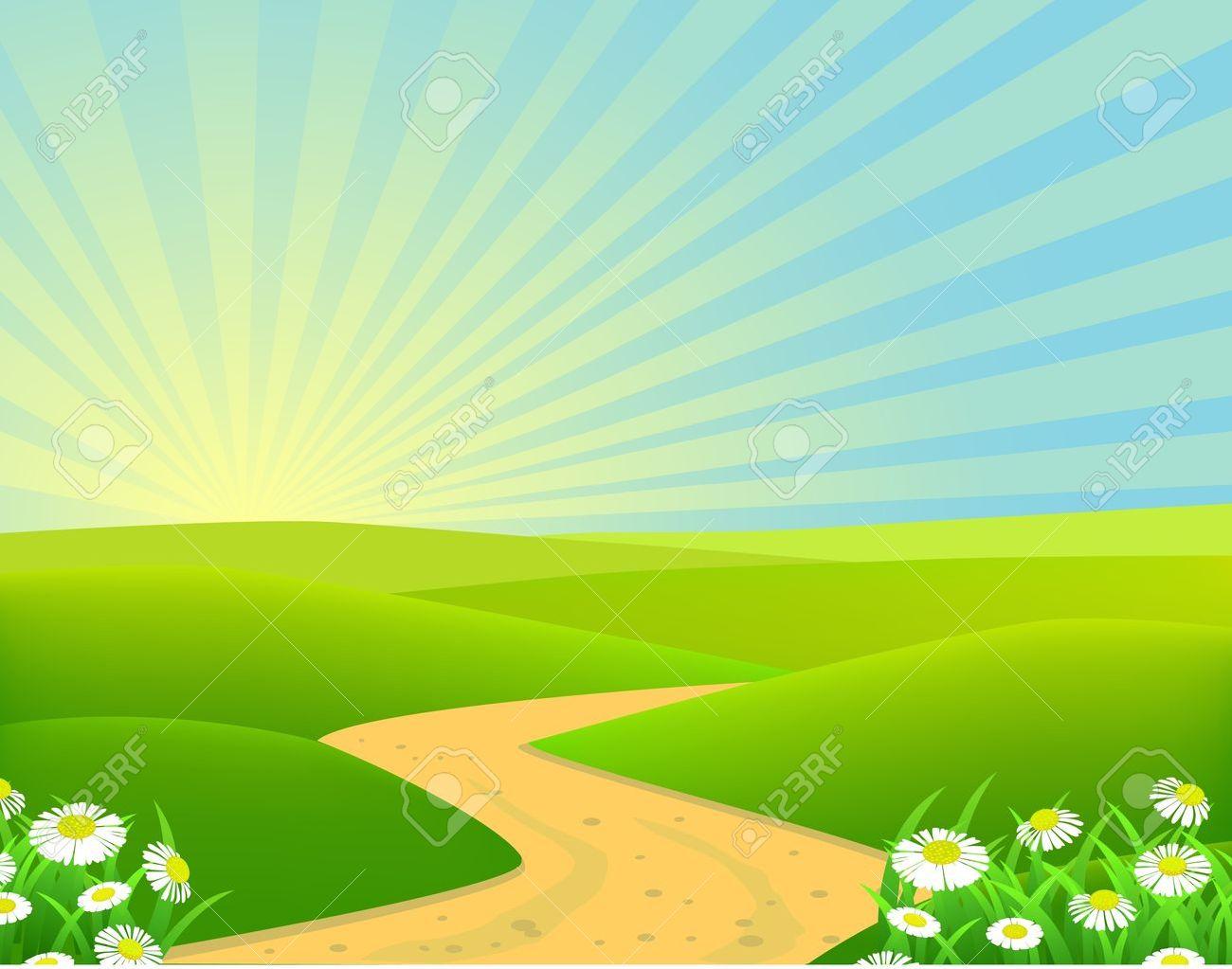 beautiful landscape background - 9508682