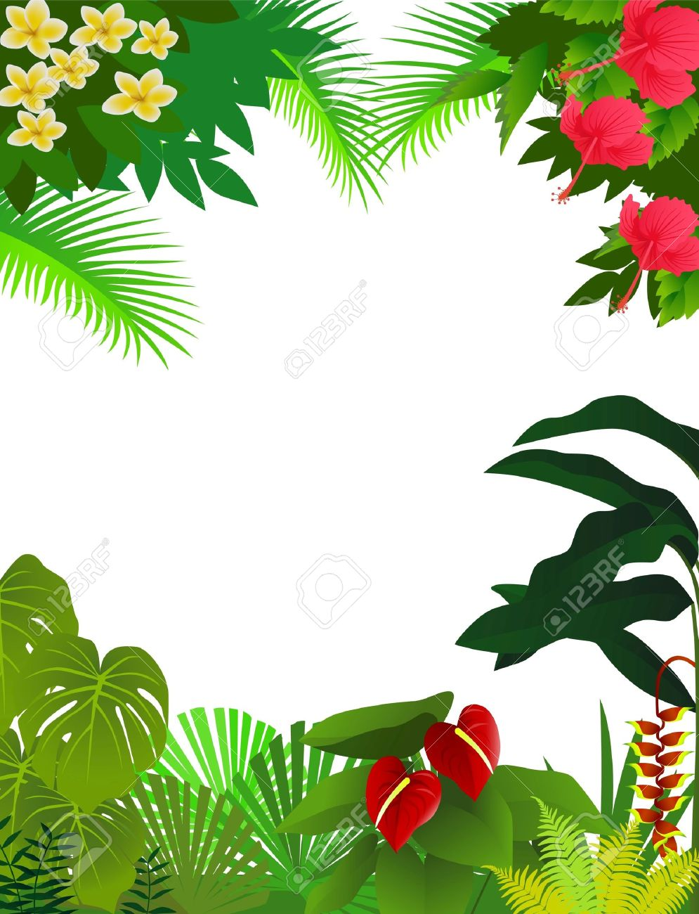Tropical forest background Stock Vector - 9569165