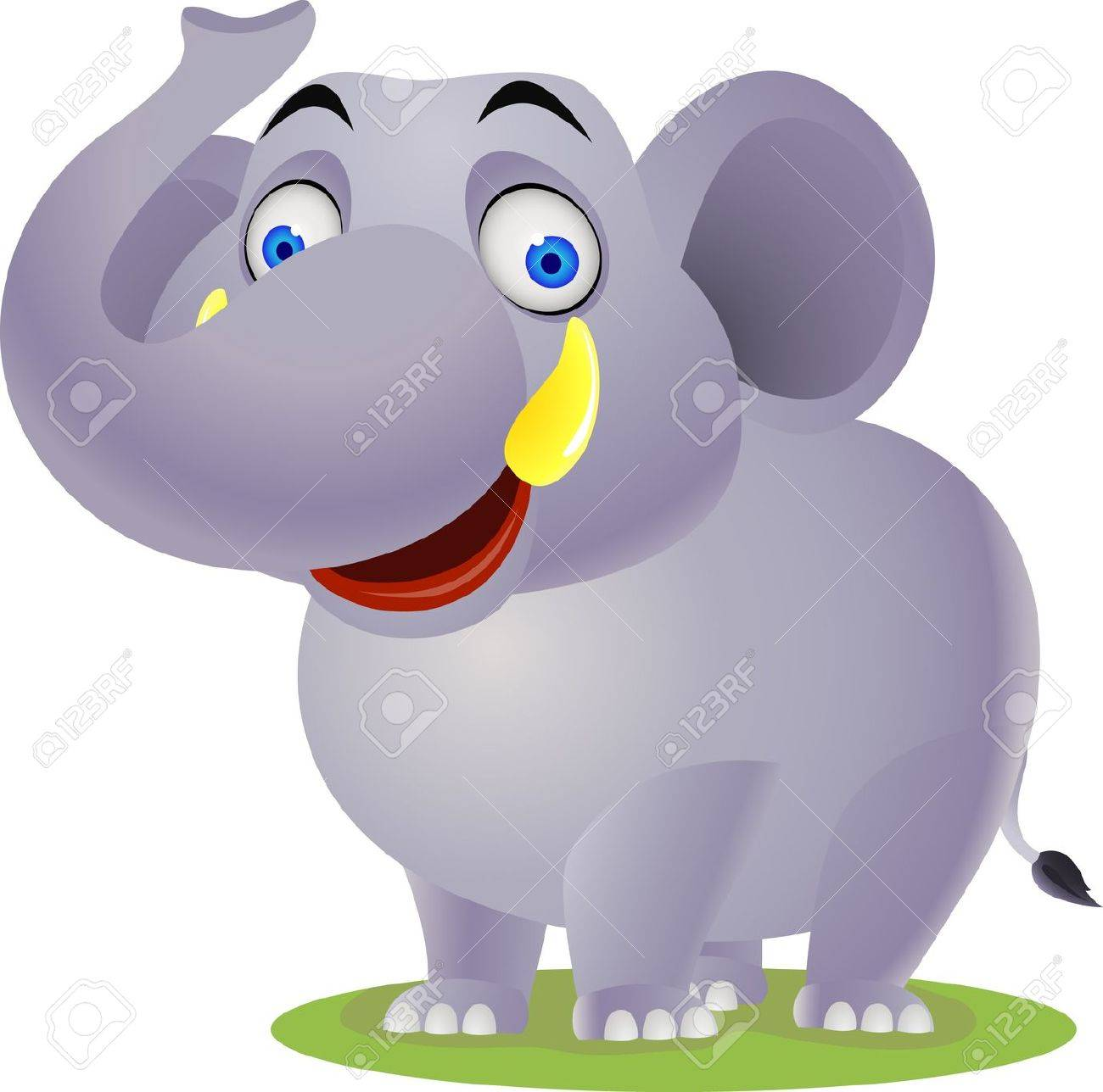 Elephant cartoon Stock Vector - 9649805