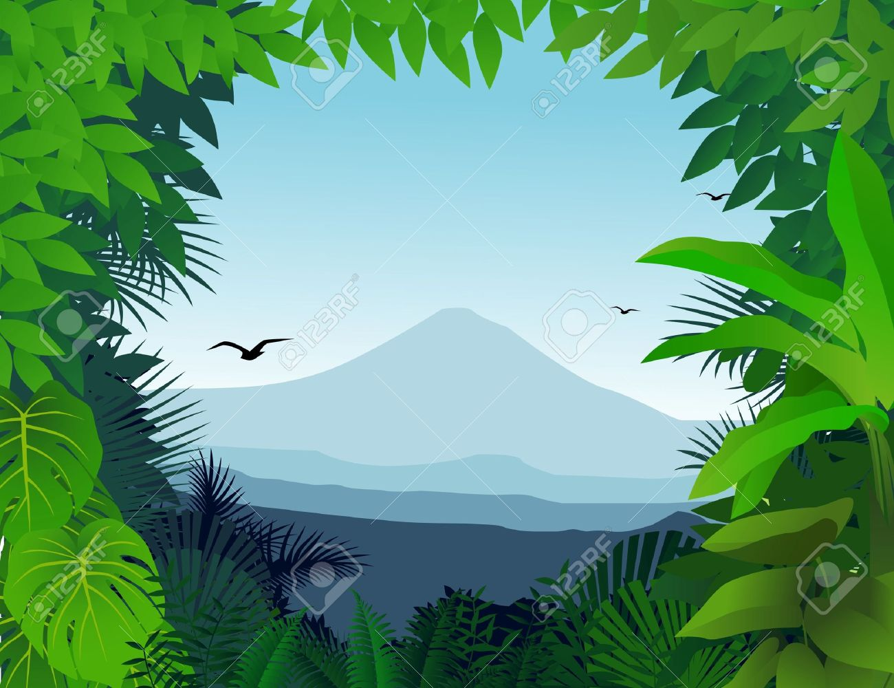 nature background royalty free cliparts vectors and stock rh 123rf com vector jungle tree vector jungle royalty free graphics