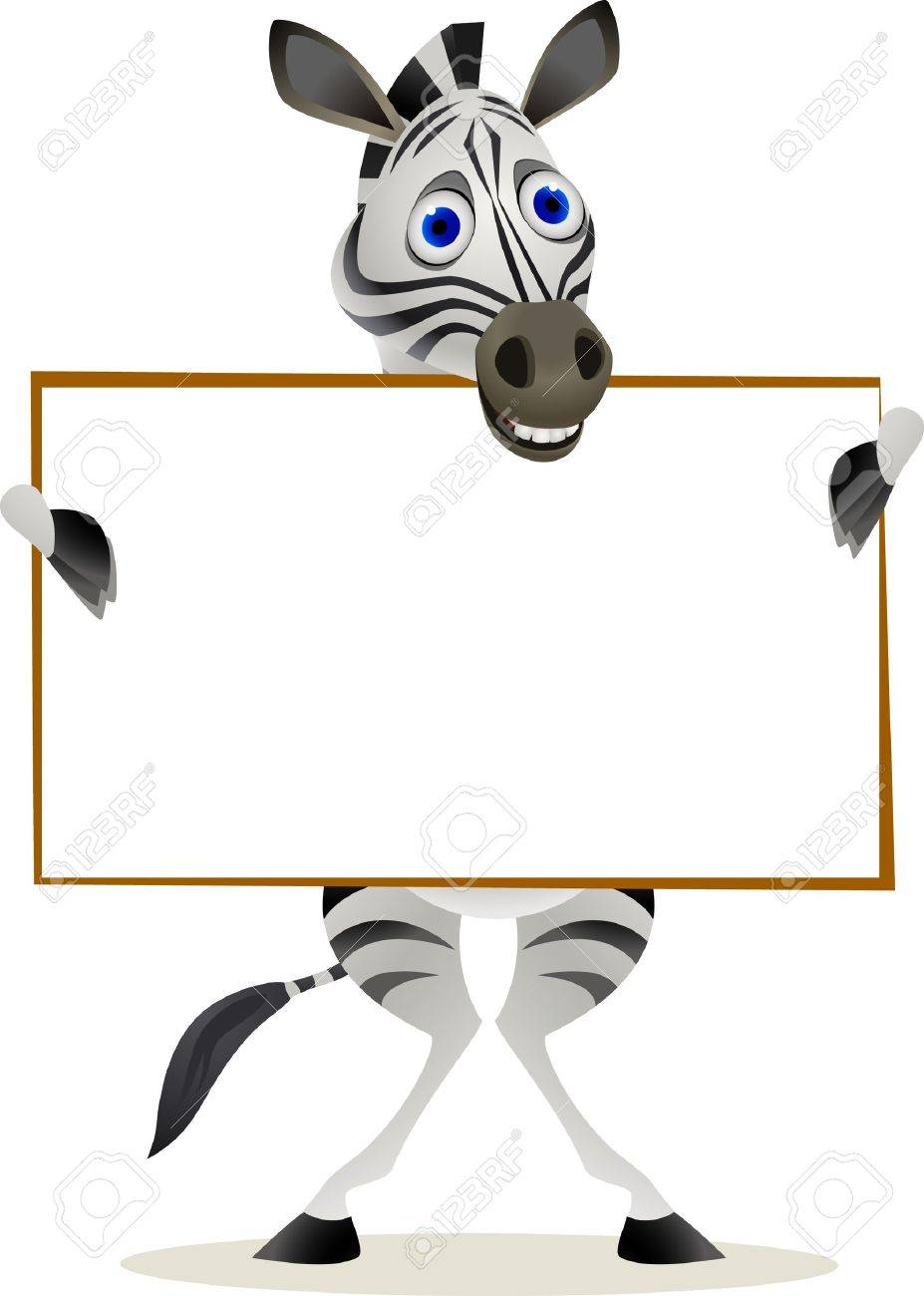zebra ad blank sign Stock Vector - 9698977