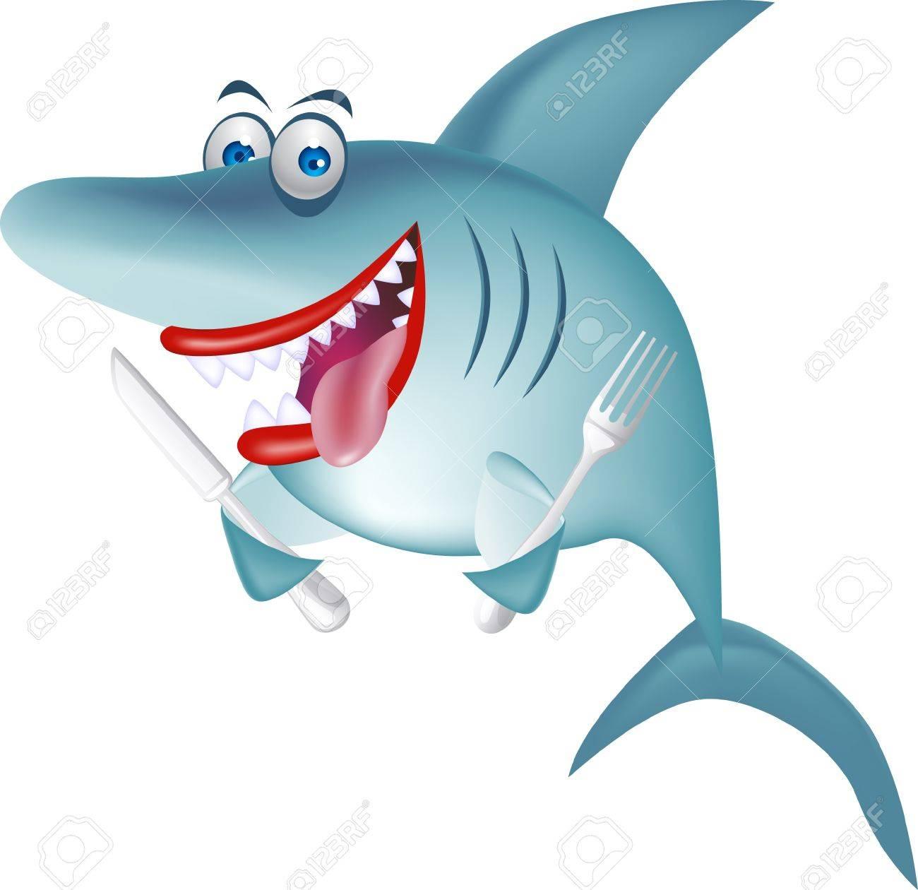 Hungry shark Stock Vector - 10103707