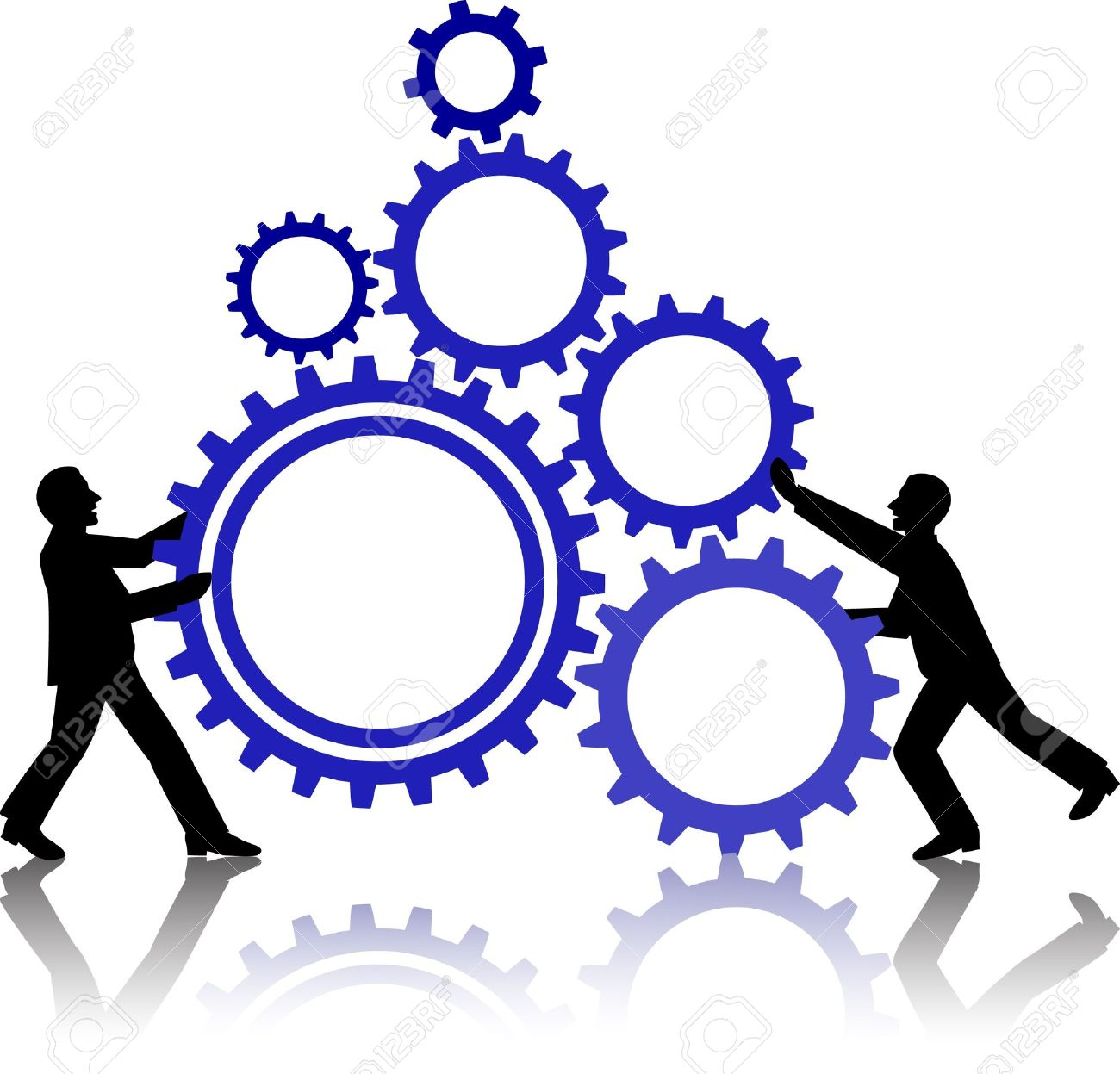 illustration of business people working together royalty free rh 123rf com