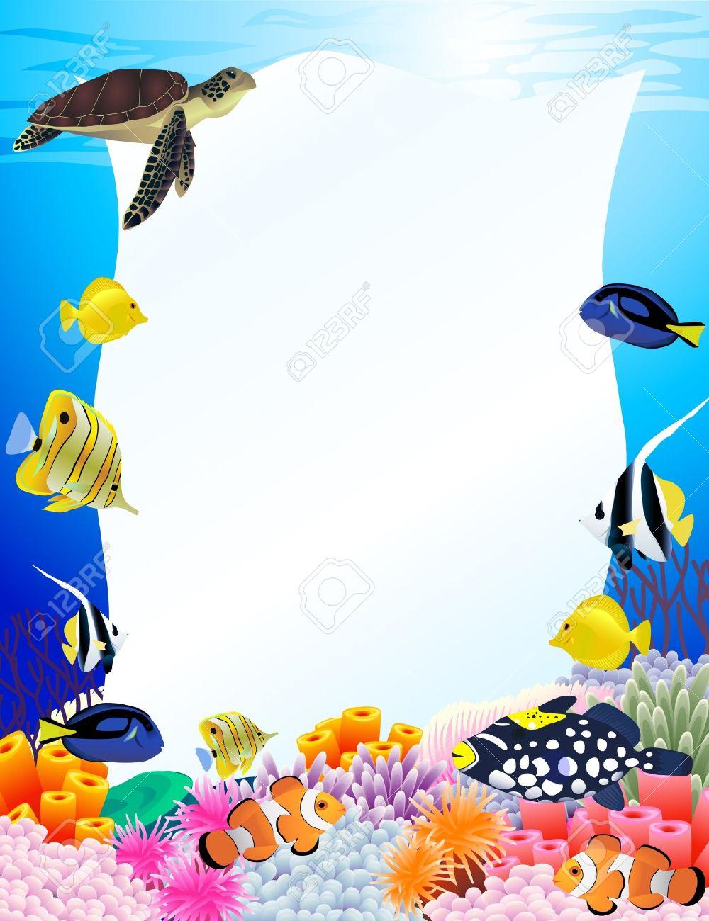 Sea life background Stock Vector - 10178783