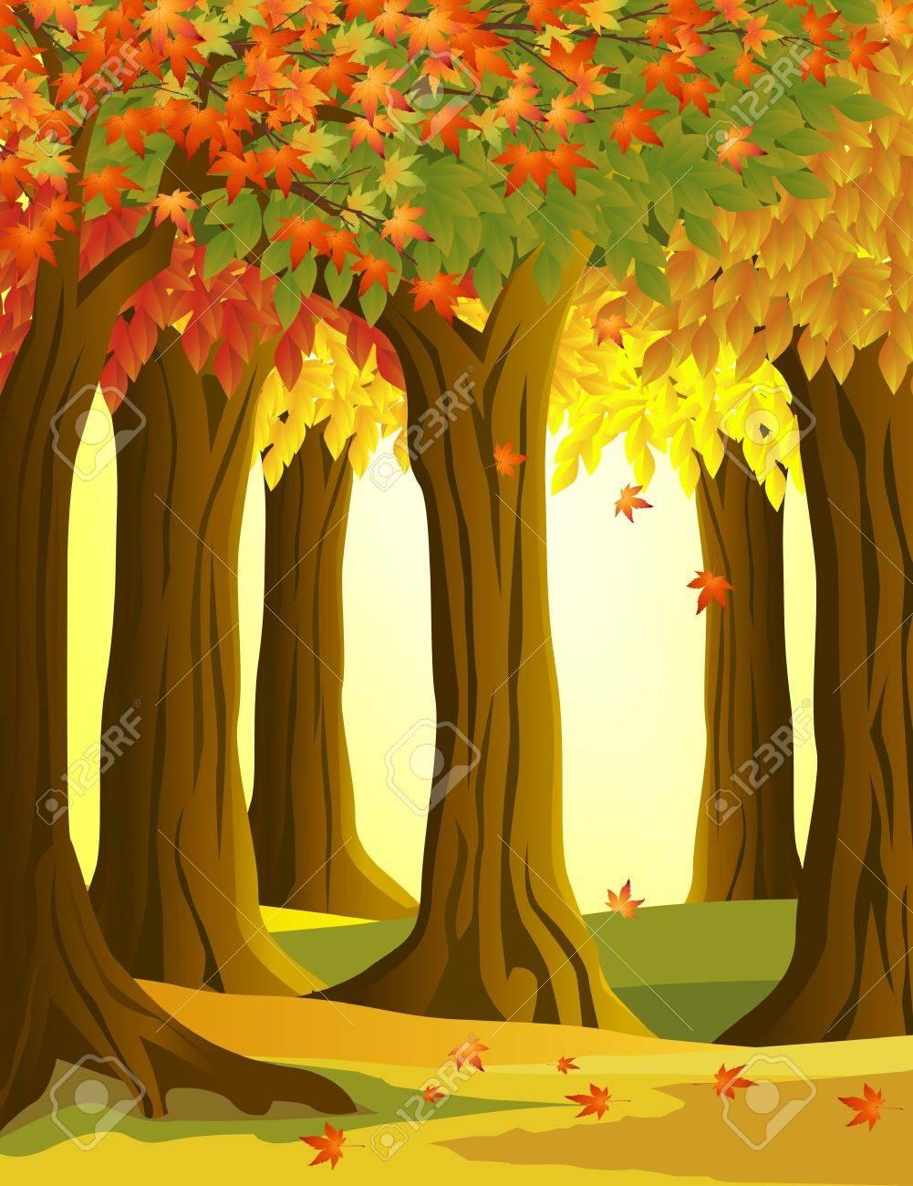 Autumn tree background Stock Vector - 10232696