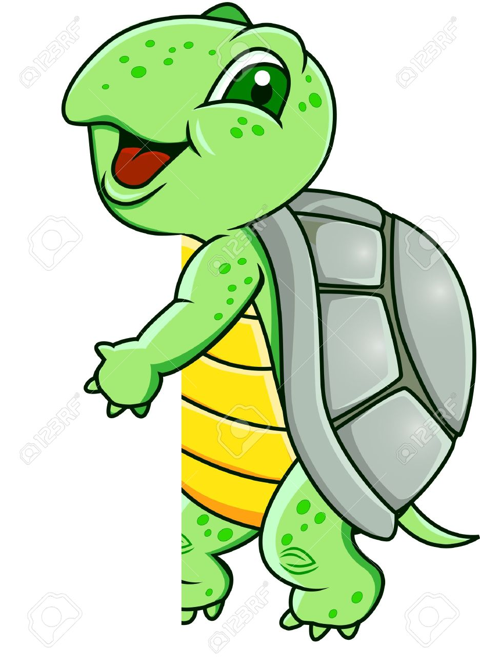 Turtle with blank sign Stock Vector - 12151013