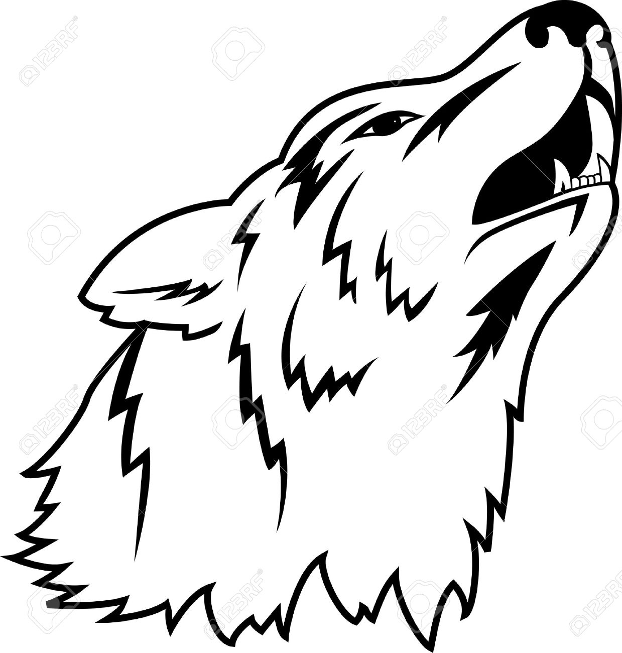 Wolf tattoo Stock Vector - 12151010