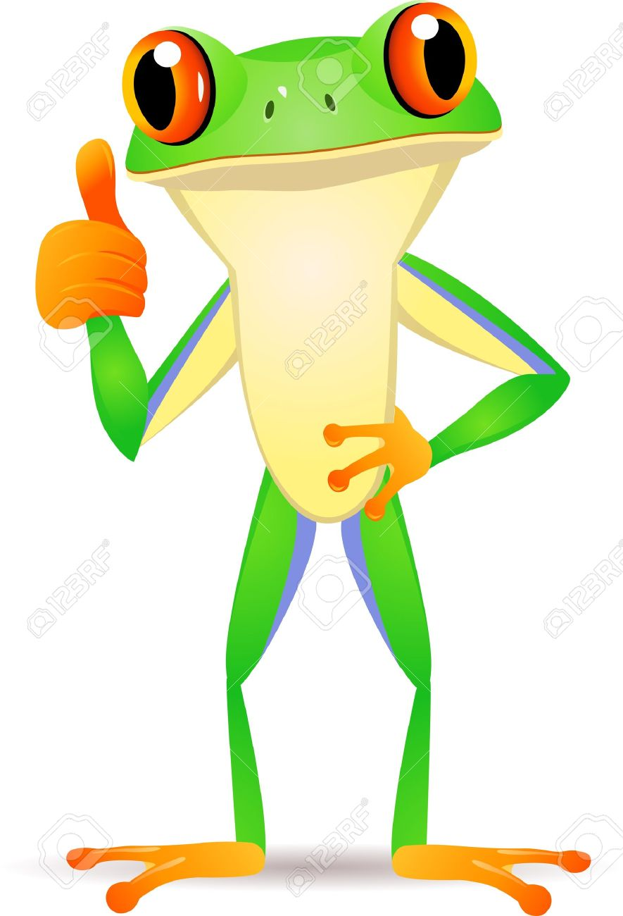Fun frog with thumbs up - 12151011