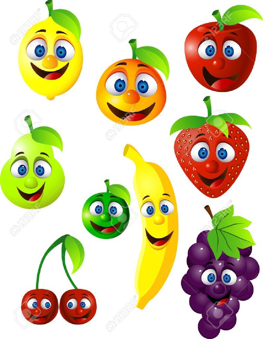 Funny fruit cartoon Stock Vector - 12152520